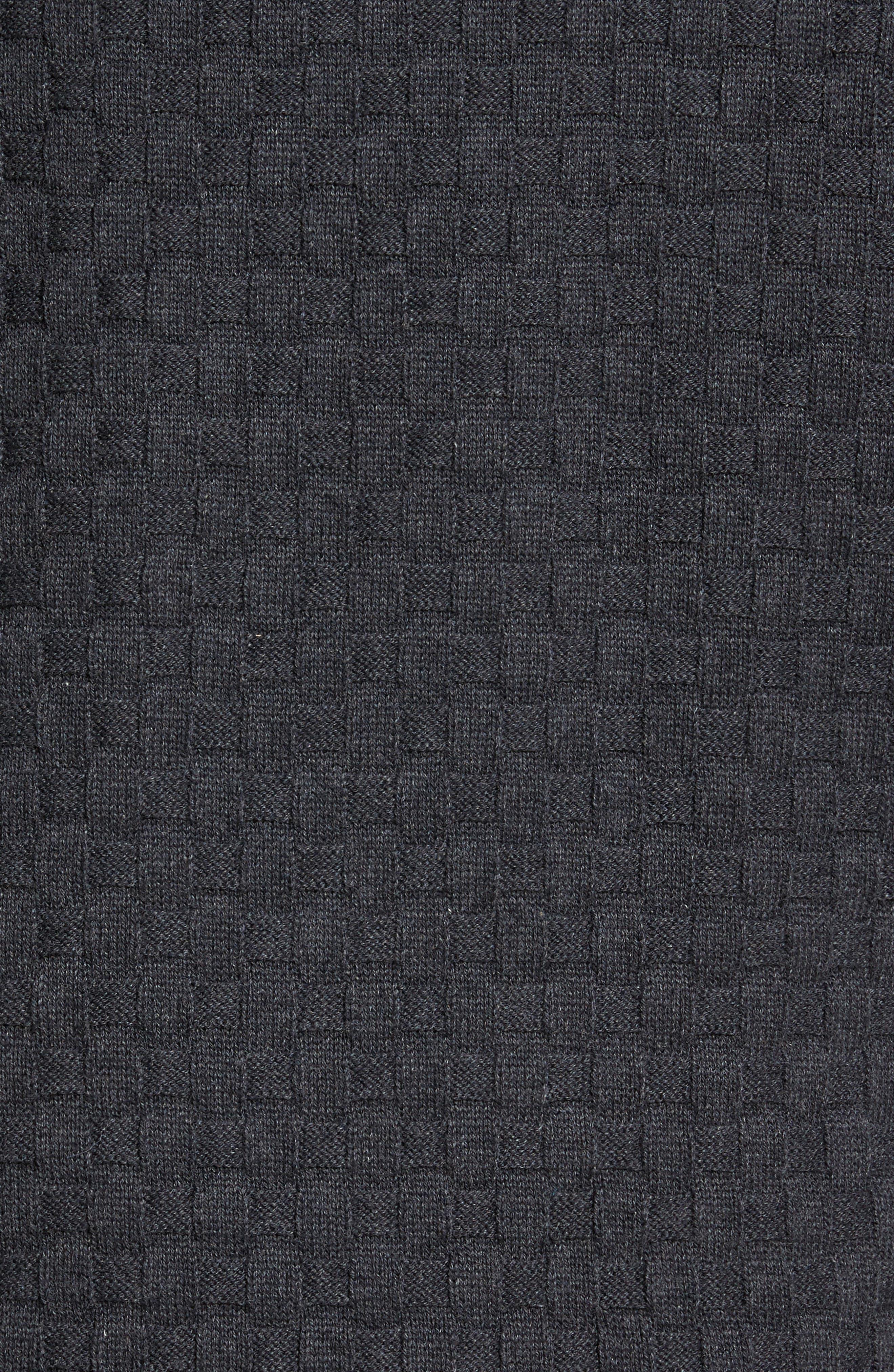 Basket Weave Zip Cardigan,                             Alternate thumbnail 5, color,                             095