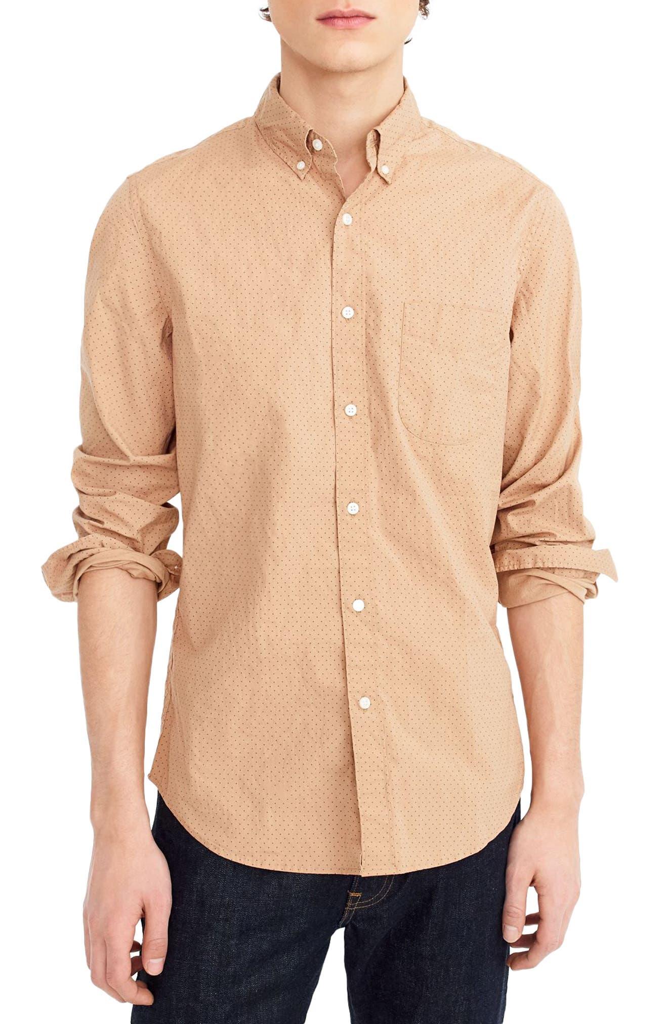 Slim Fit Stretch Secret Wash Dot Sport Shirt,                             Main thumbnail 1, color,                             200