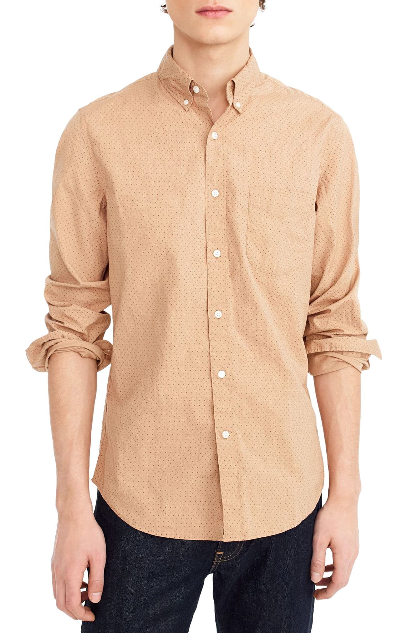 Slim Fit Stretch Secret Wash Dot Sport Shirt,                         Main,                         color, 200