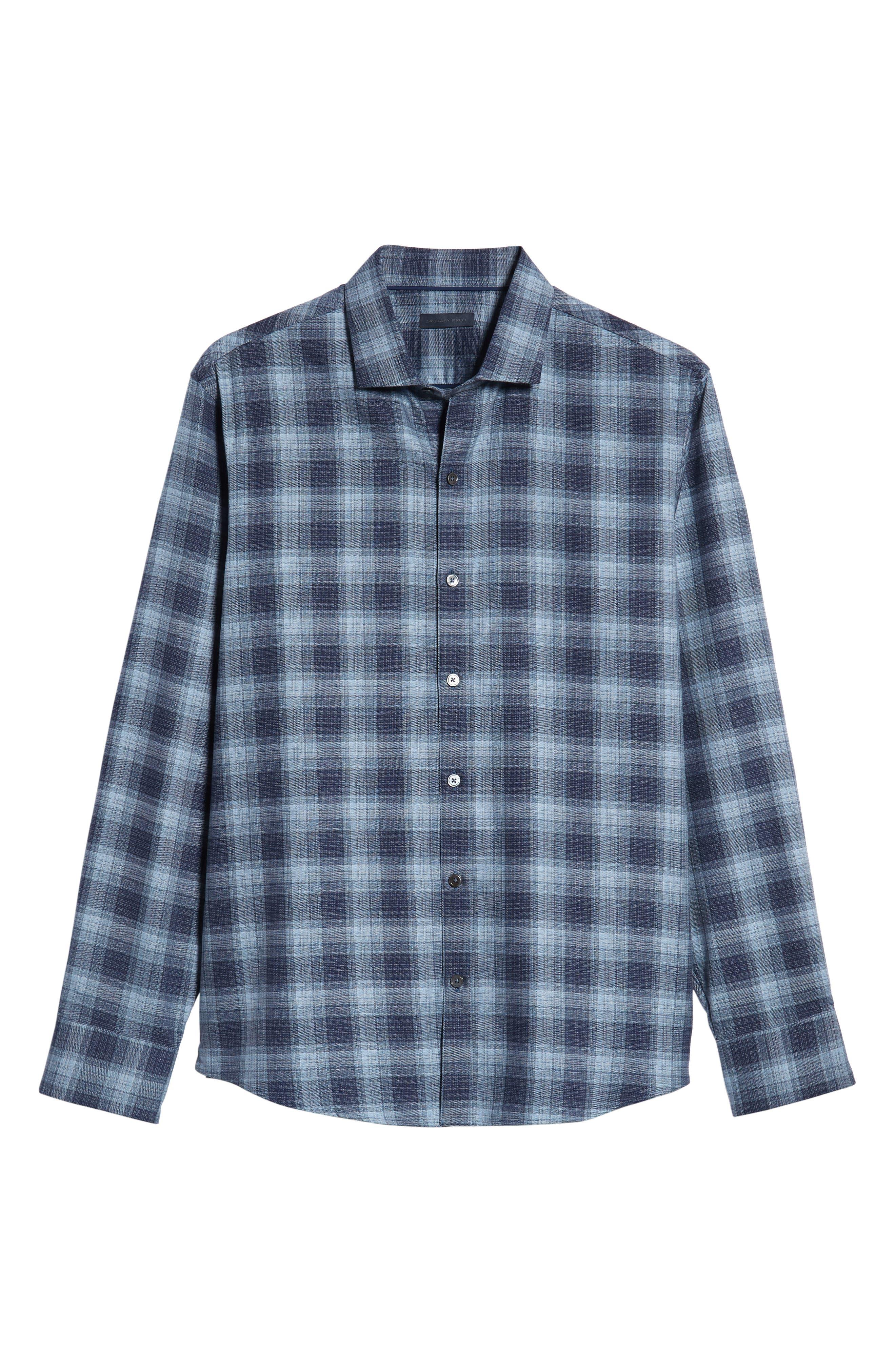 Oris Regular Fit Check Sport Shirt,                             Alternate thumbnail 5, color,                             BLUE