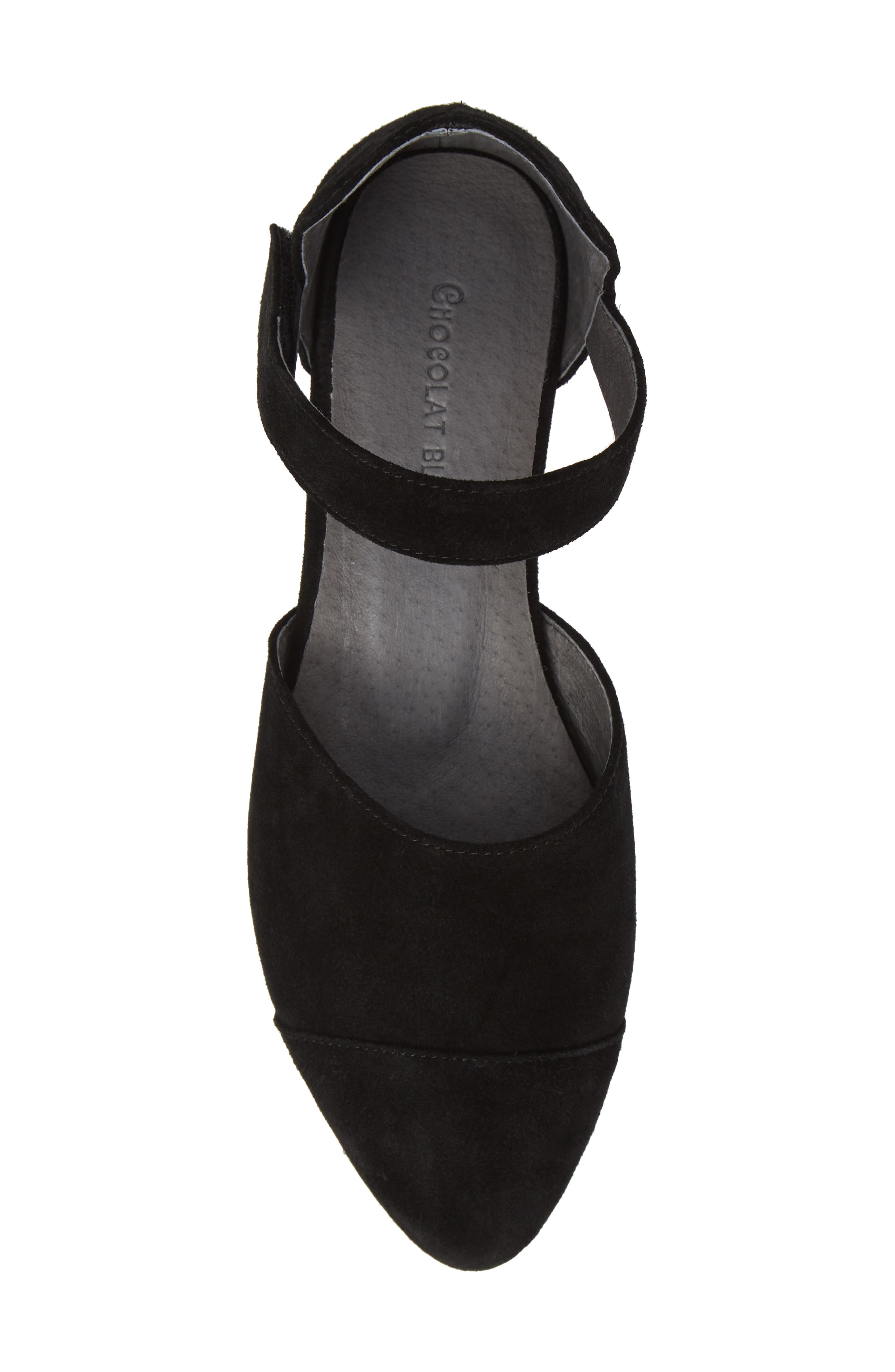 Gaia Pointy Toe Flat,                             Alternate thumbnail 5, color,                             BLACK SUEDE