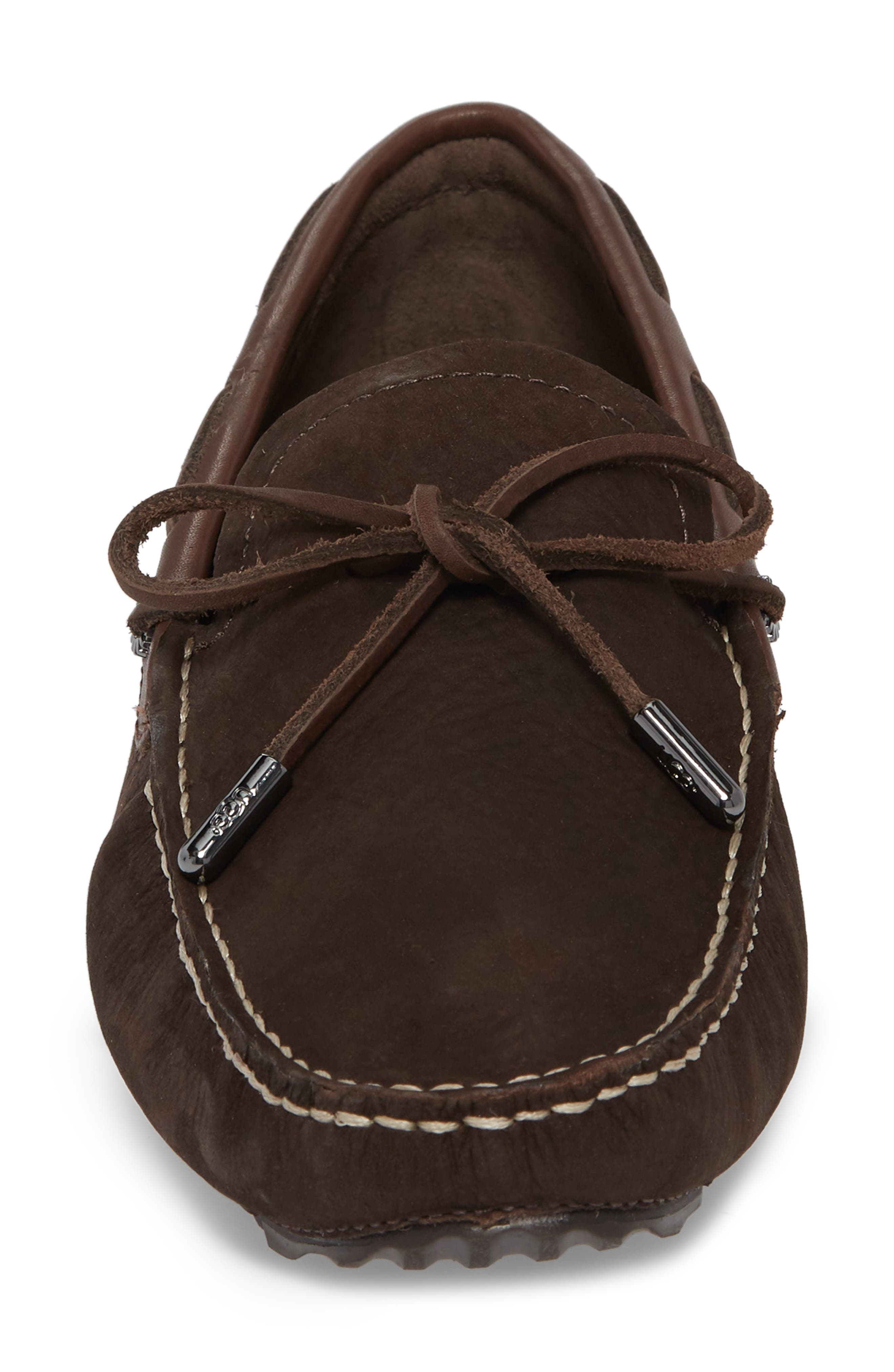 Bel Air Driving Moccasin,                             Alternate thumbnail 4, color,                             STOUT LEATHER