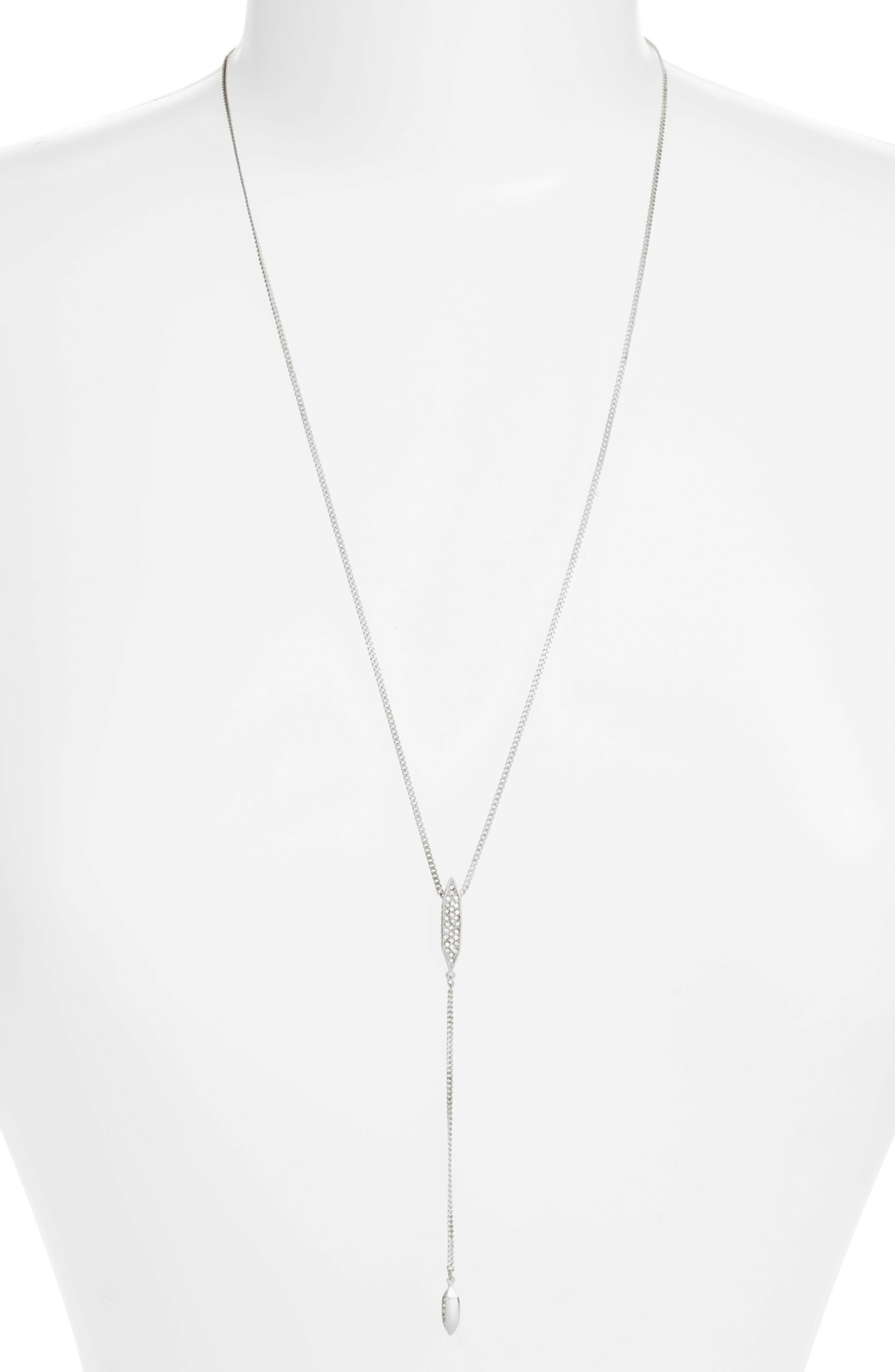 Crystal Y-Necklace,                         Main,                         color,