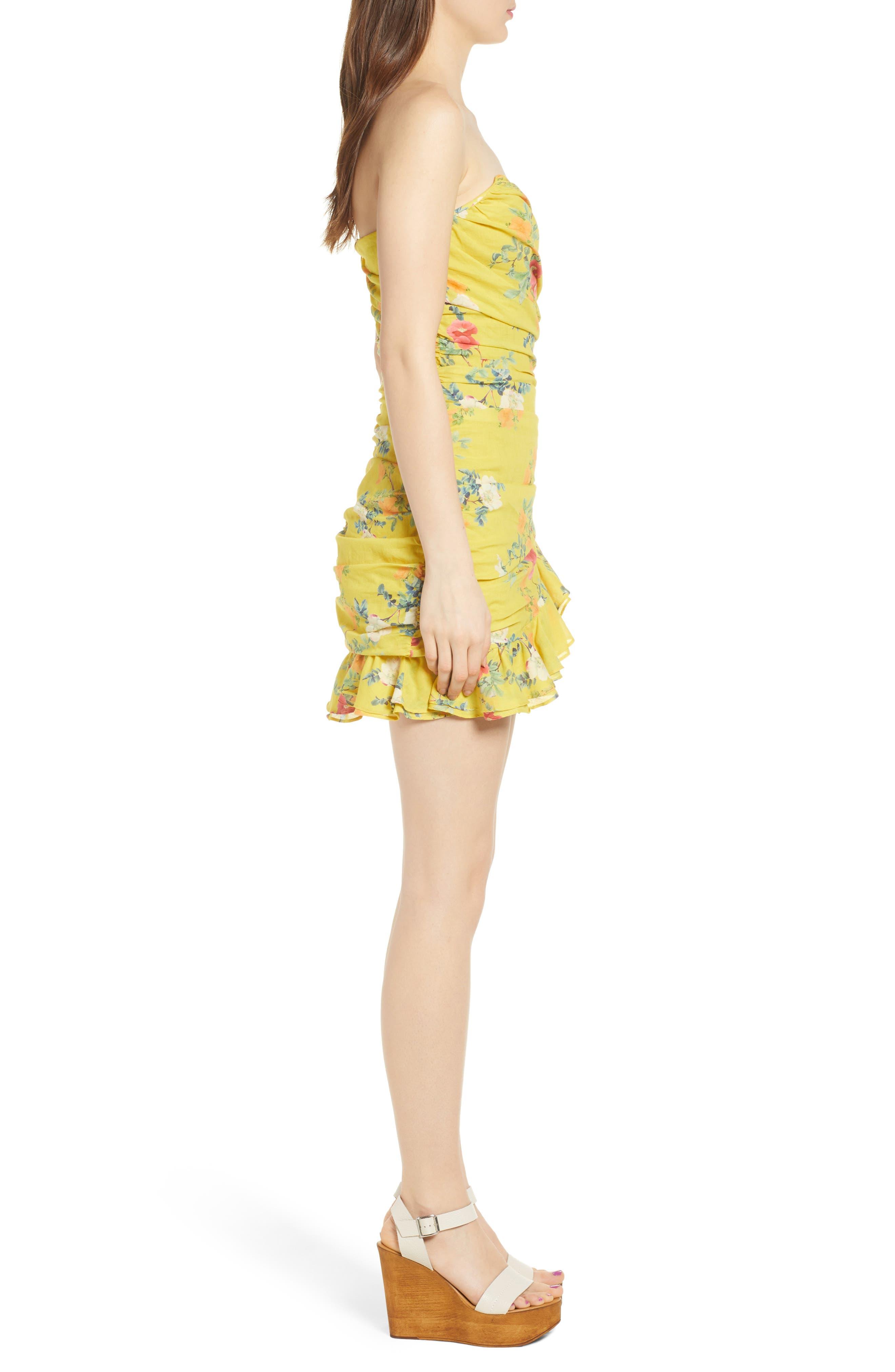 Casey Strapless Minidress,                             Alternate thumbnail 3, color,