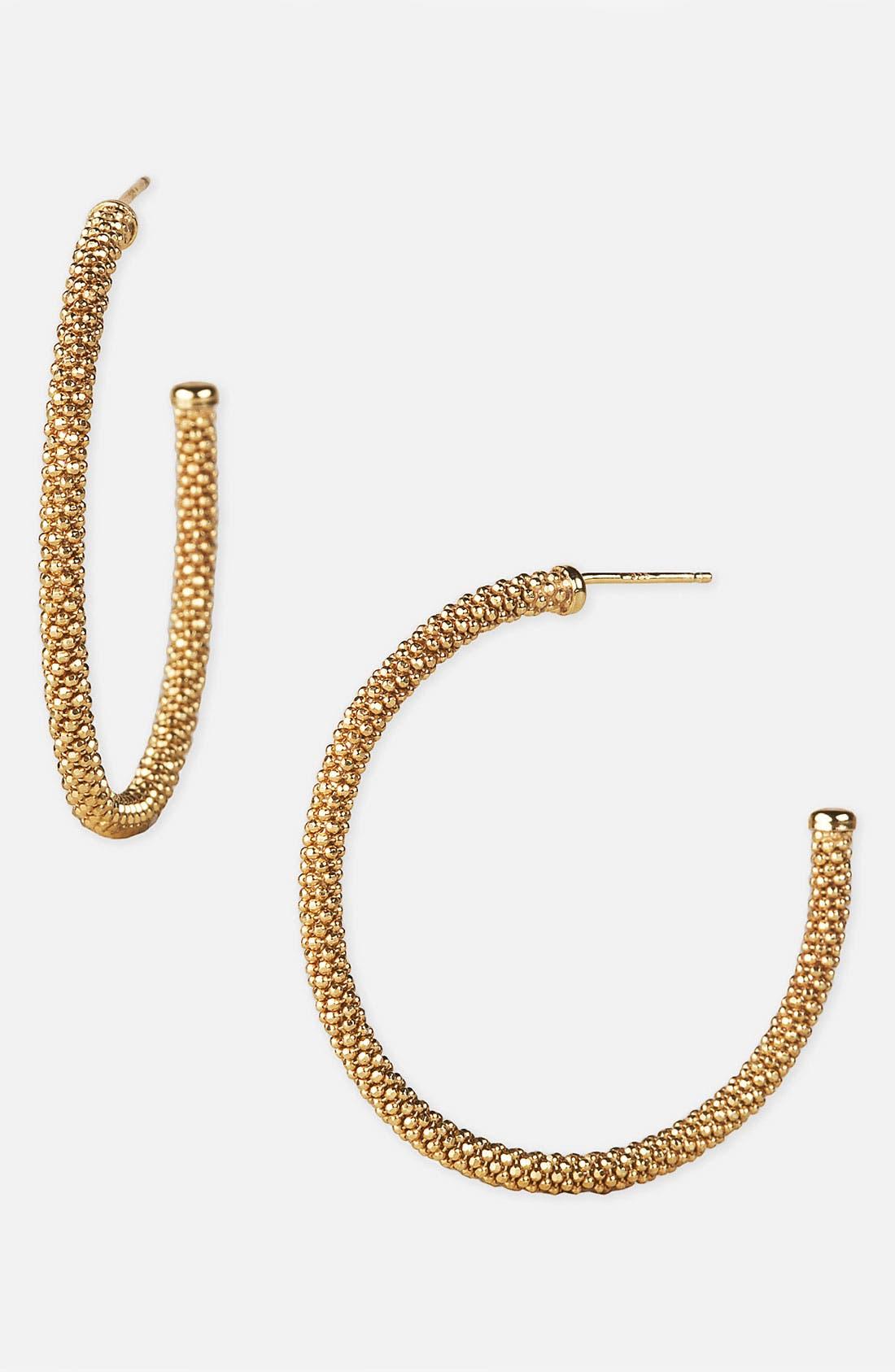 'Diamond Cut' Hoop Earrings,                             Main thumbnail 2, color,