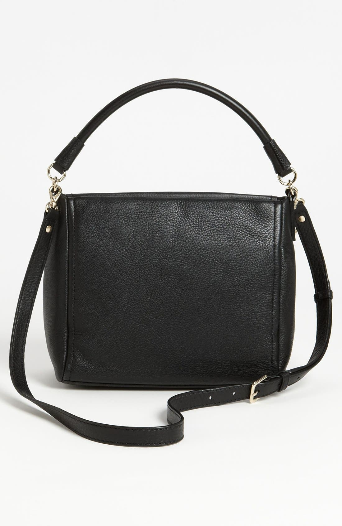 'cobble hill - little curtis' leather crossbody bag,                             Alternate thumbnail 3, color,                             001