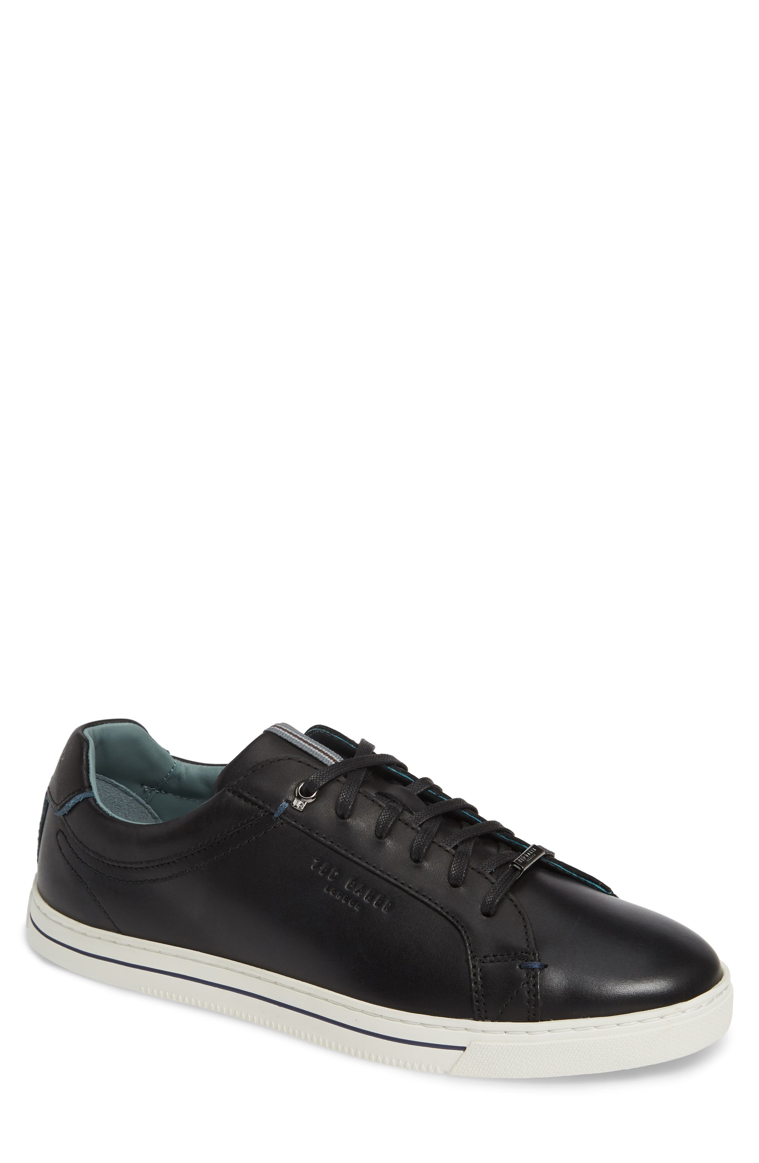 TED BAKER LONDON,                             Thawne Sneaker,                             Main thumbnail 1, color,                             BLACK LEATHER