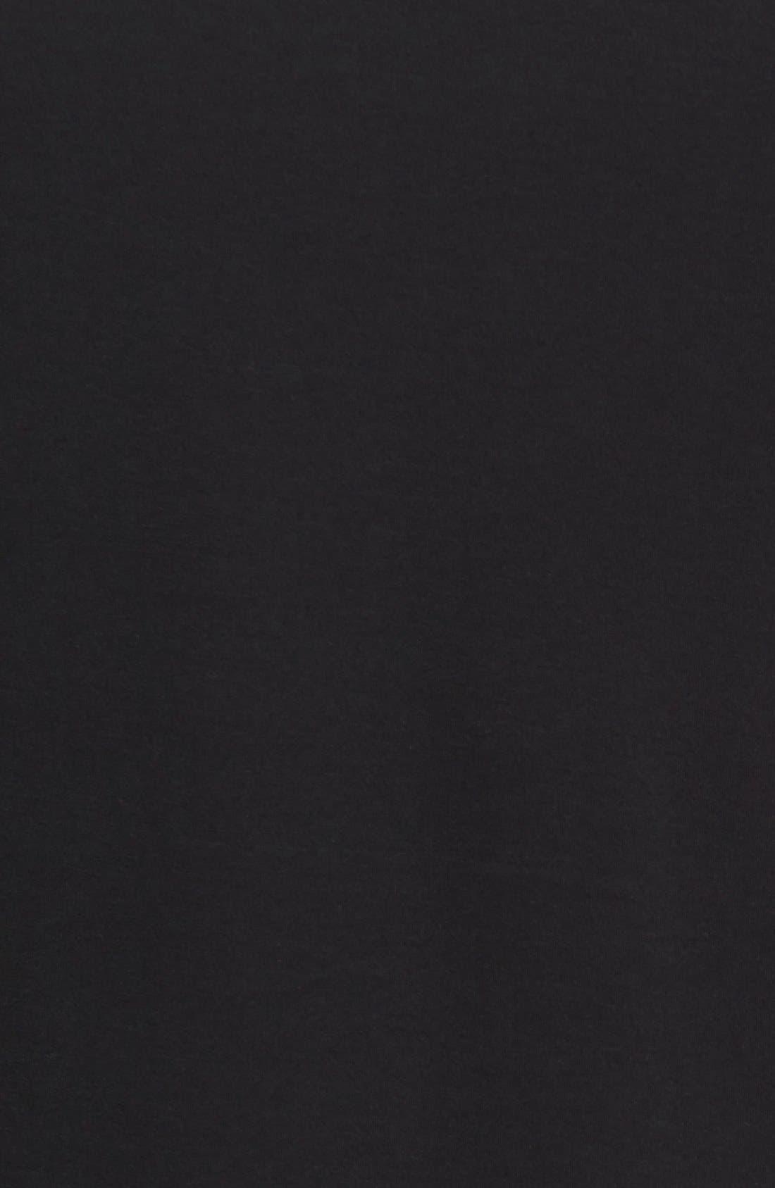 Pima Cotton T-Shirt,                             Alternate thumbnail 3, color,                             BLACK
