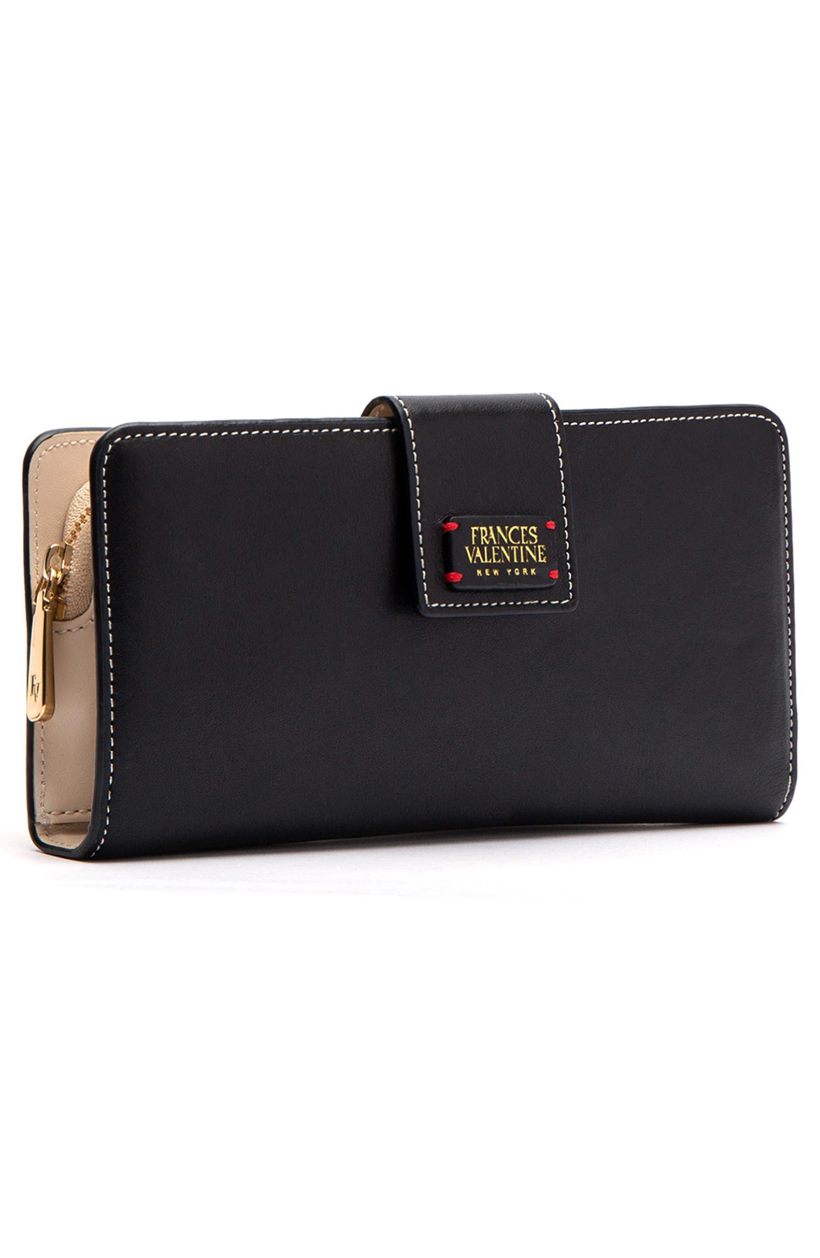 Jefferson Slim Calfskin Leather Wallet,                             Alternate thumbnail 3, color,                             BLACK/ OYSTER