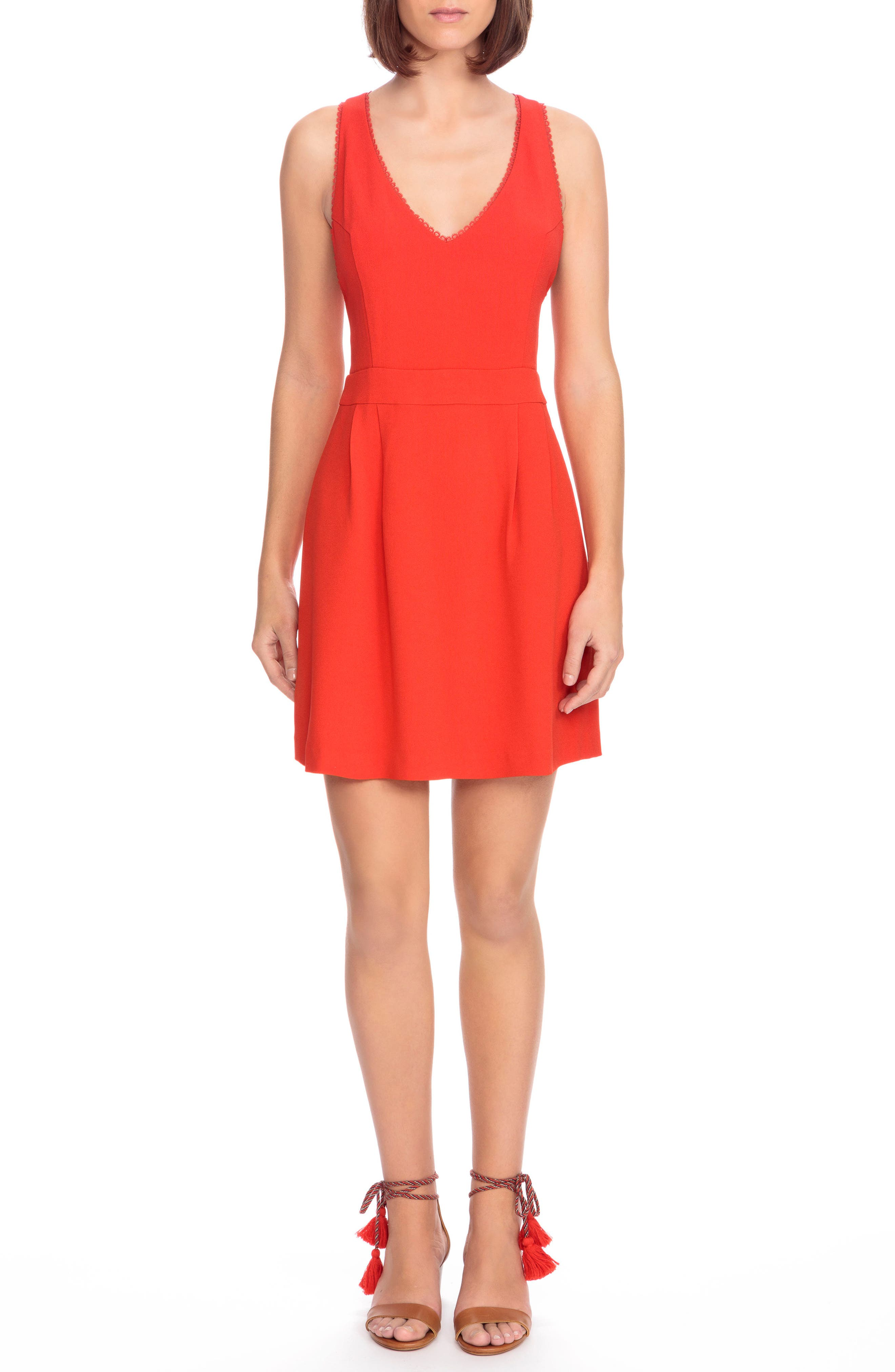 Alya Crisscross A-Line Dress,                             Main thumbnail 1, color,