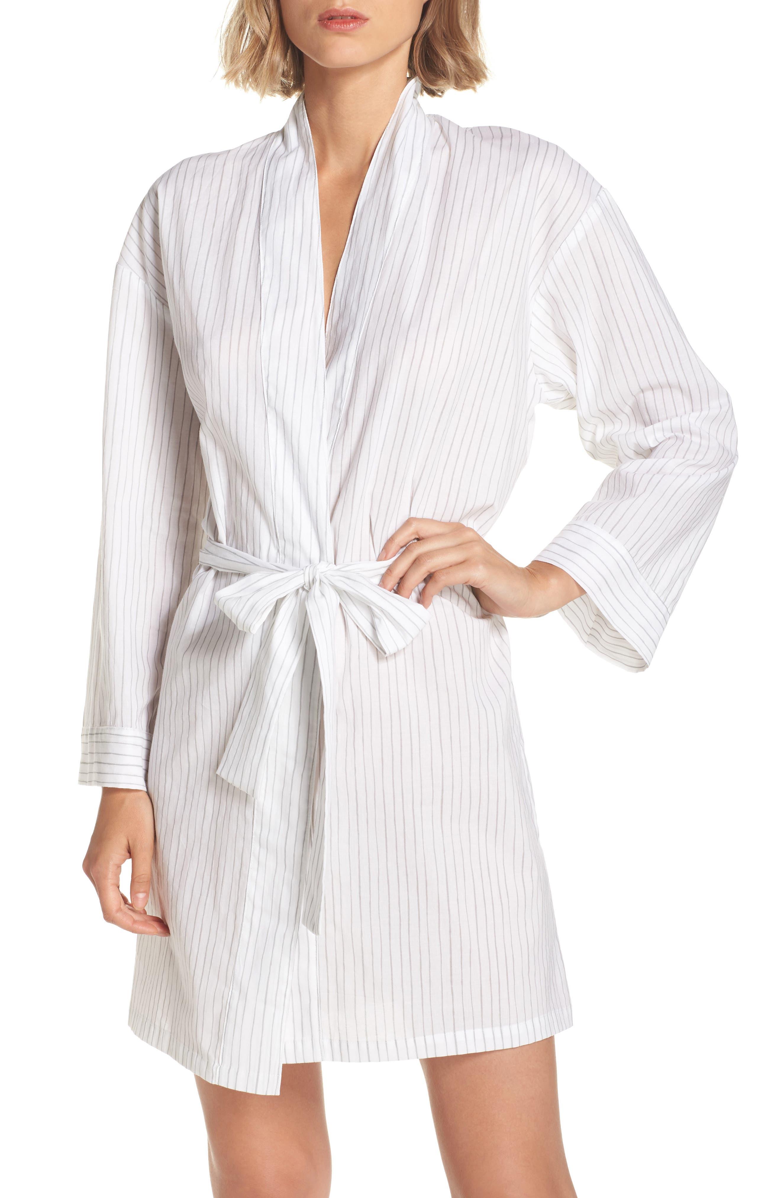 Pinstripe Robe,                             Main thumbnail 1, color,                             020