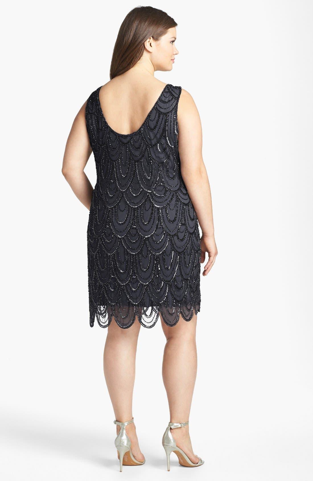 Beaded Sheath Dress,                             Alternate thumbnail 27, color,