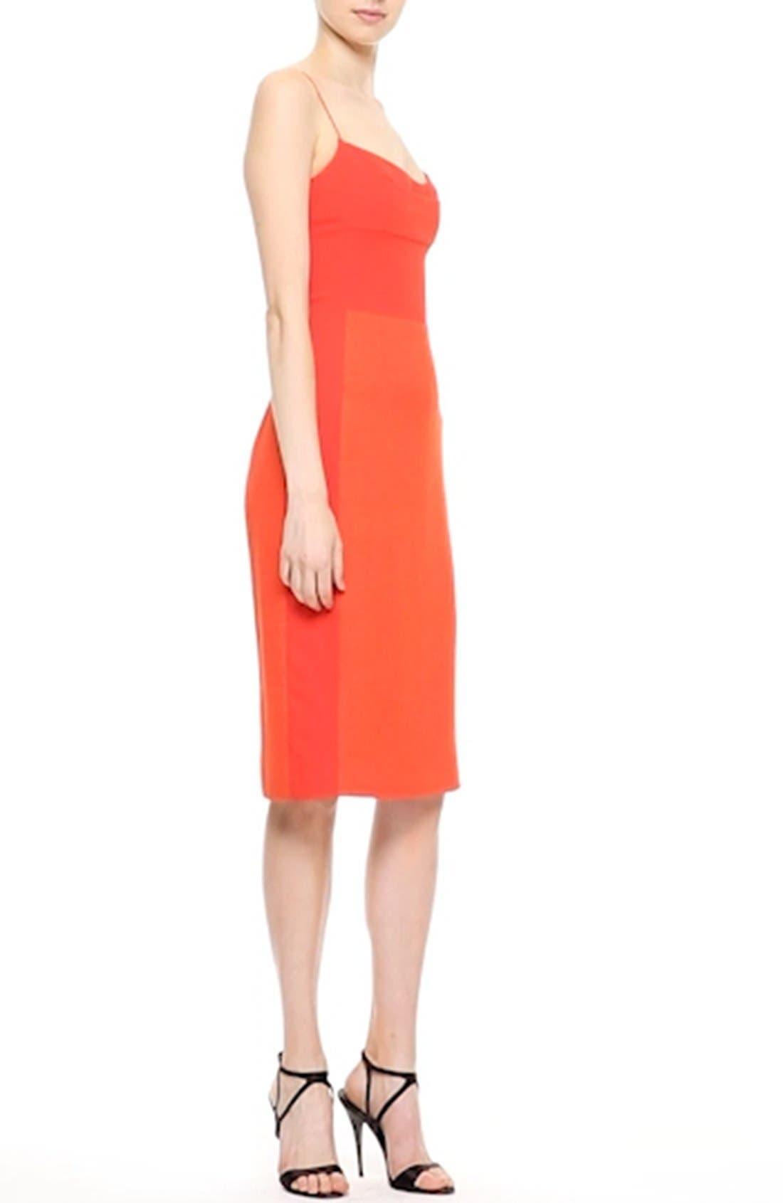 Texture Wool & Crêpe Bustier Dress,                             Alternate thumbnail 2, color,                             600