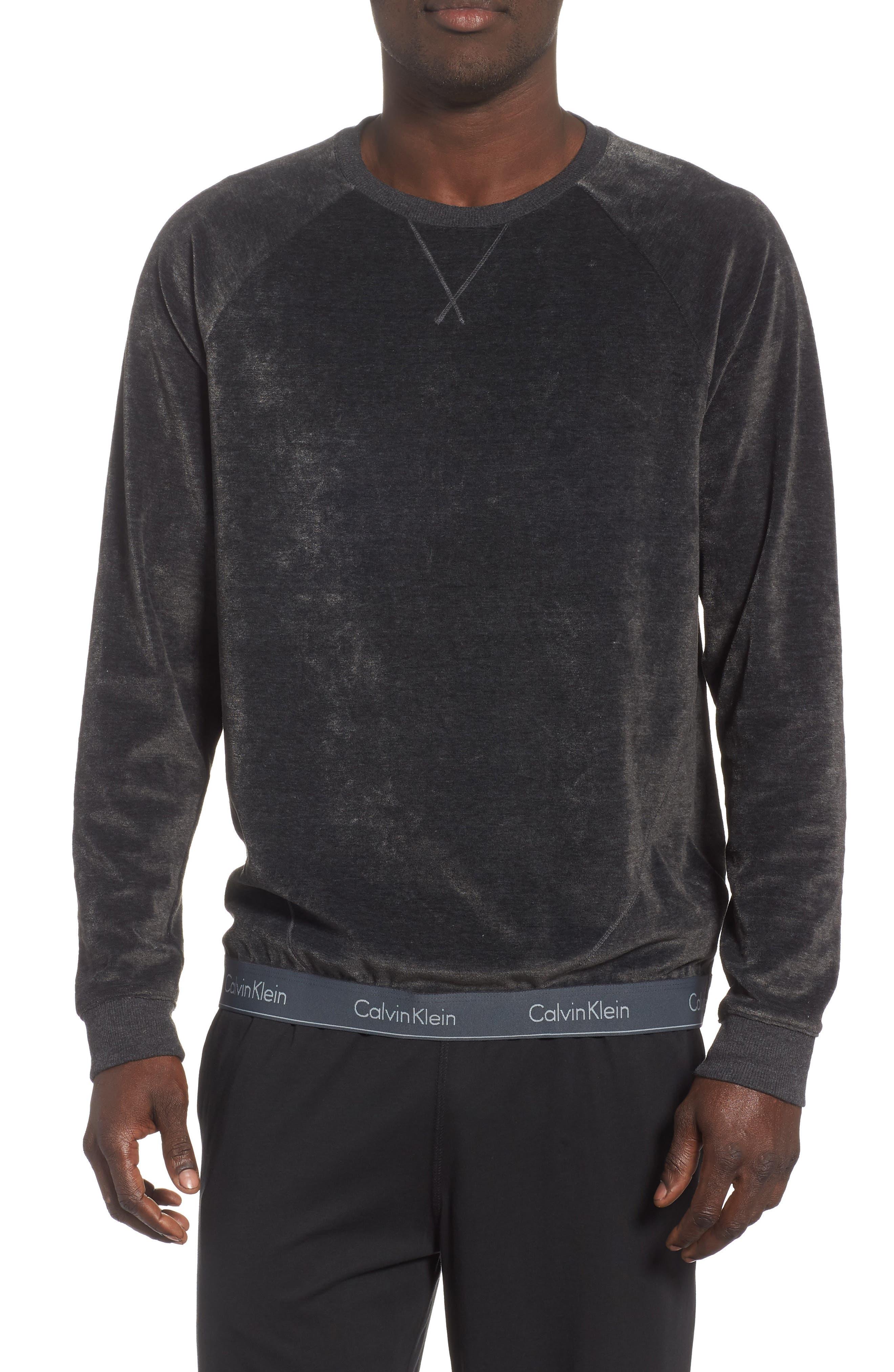 Crewneck Sweatshirt,                         Main,                         color, WASHED BLACK