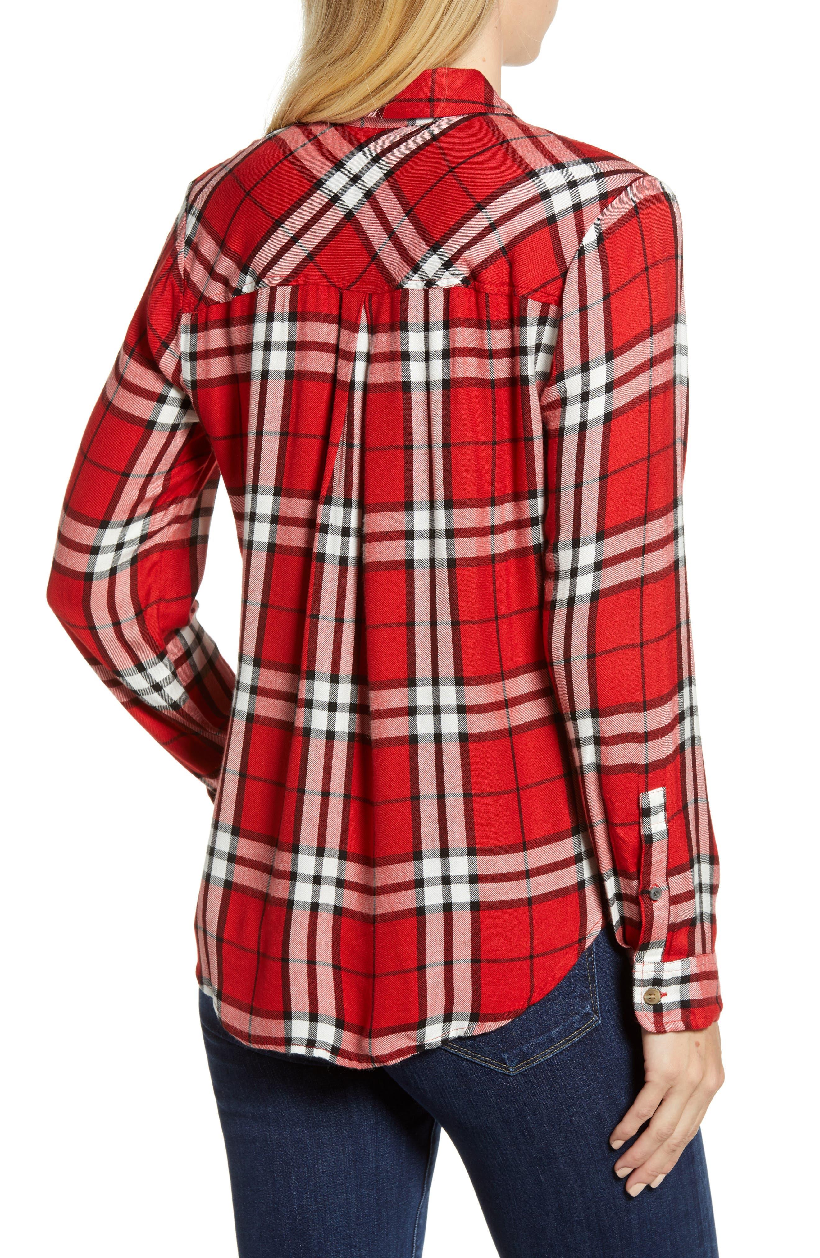 Plaid Shirt,                             Alternate thumbnail 2, color,                             RED MULTI
