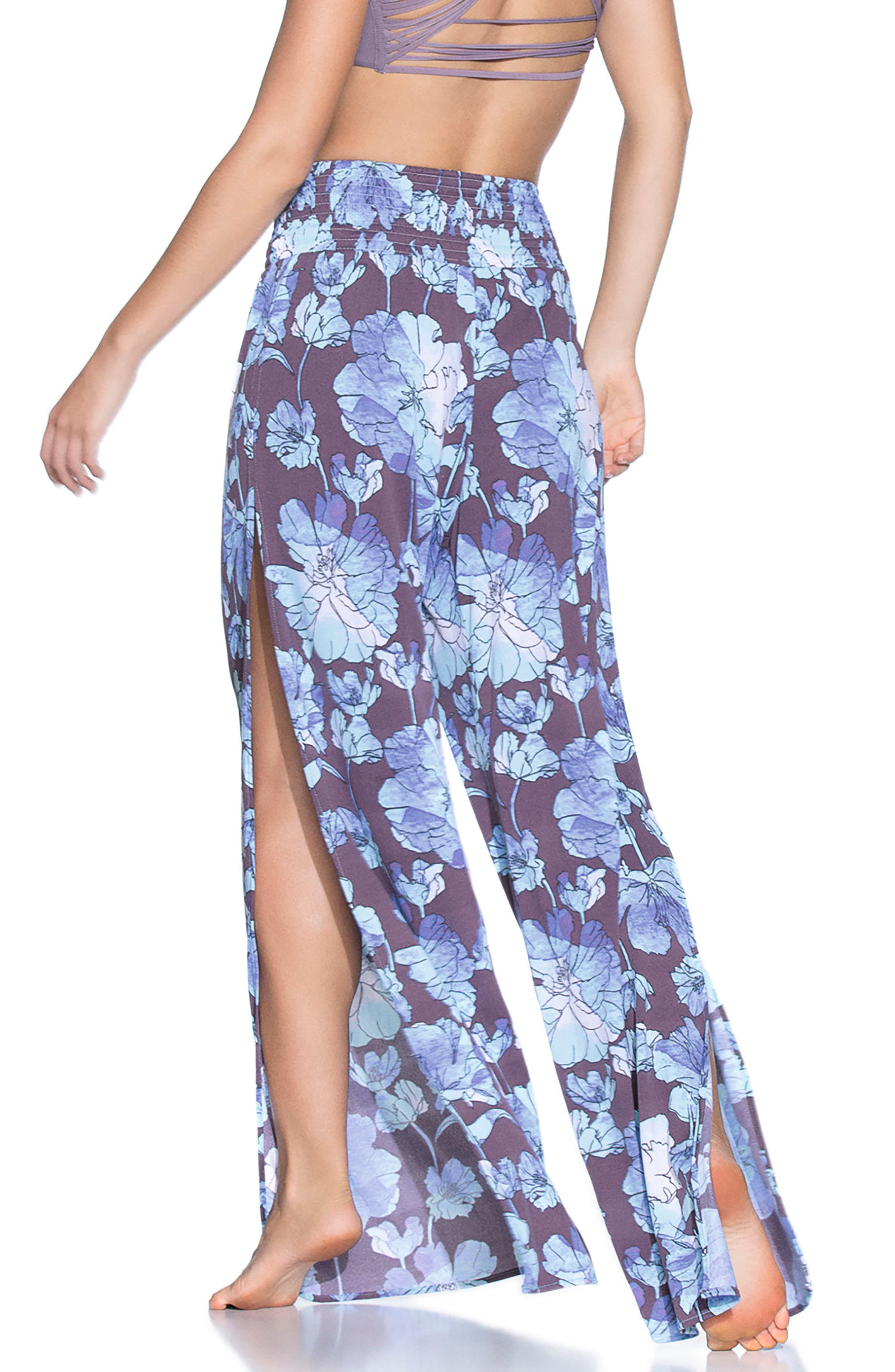Watercolor Lagune Cover-Up Pants,                             Alternate thumbnail 2, color,                             500