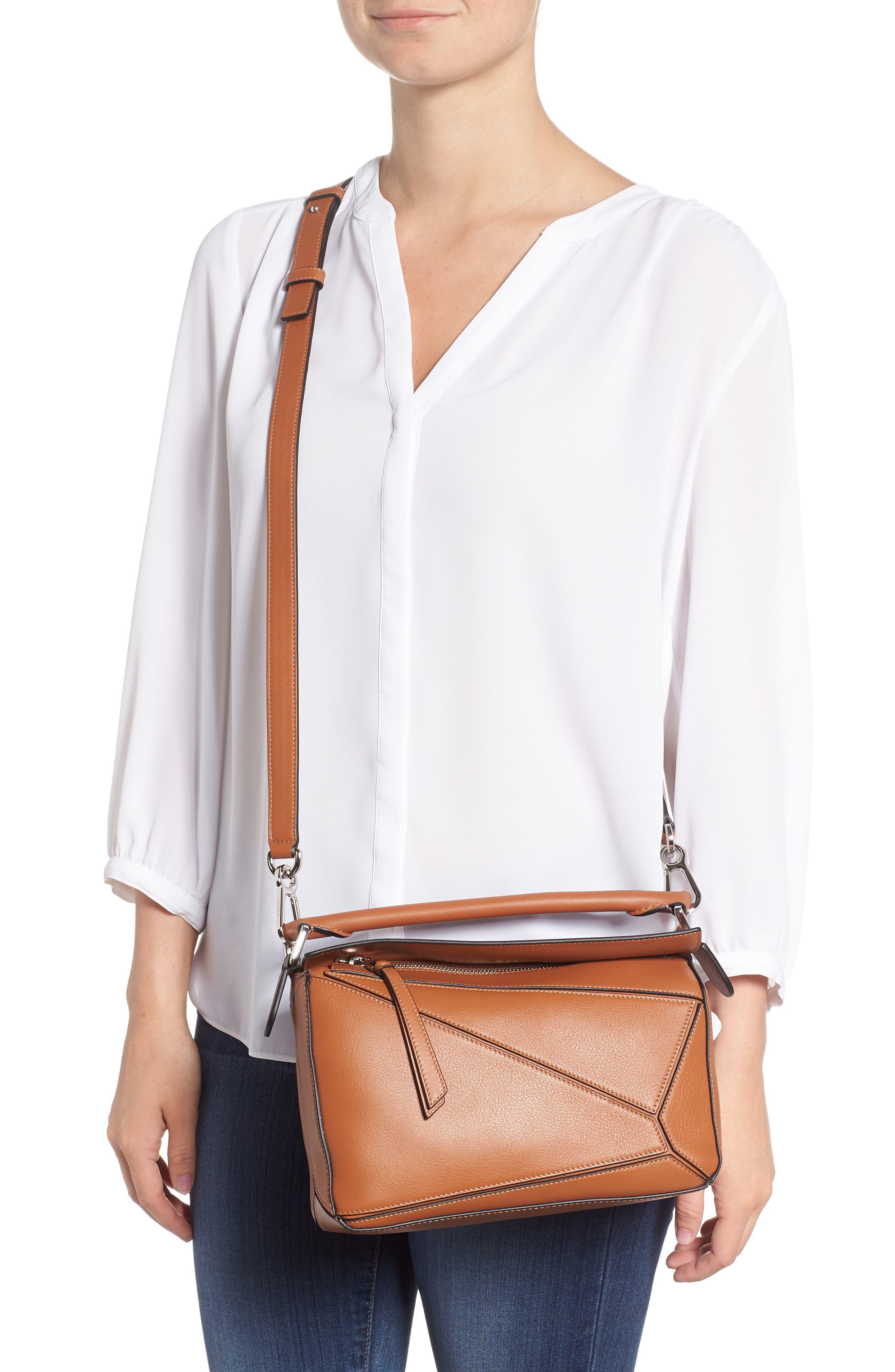 Small Puzzle Shoulder Bag,                             Alternate thumbnail 2, color,                             TAN