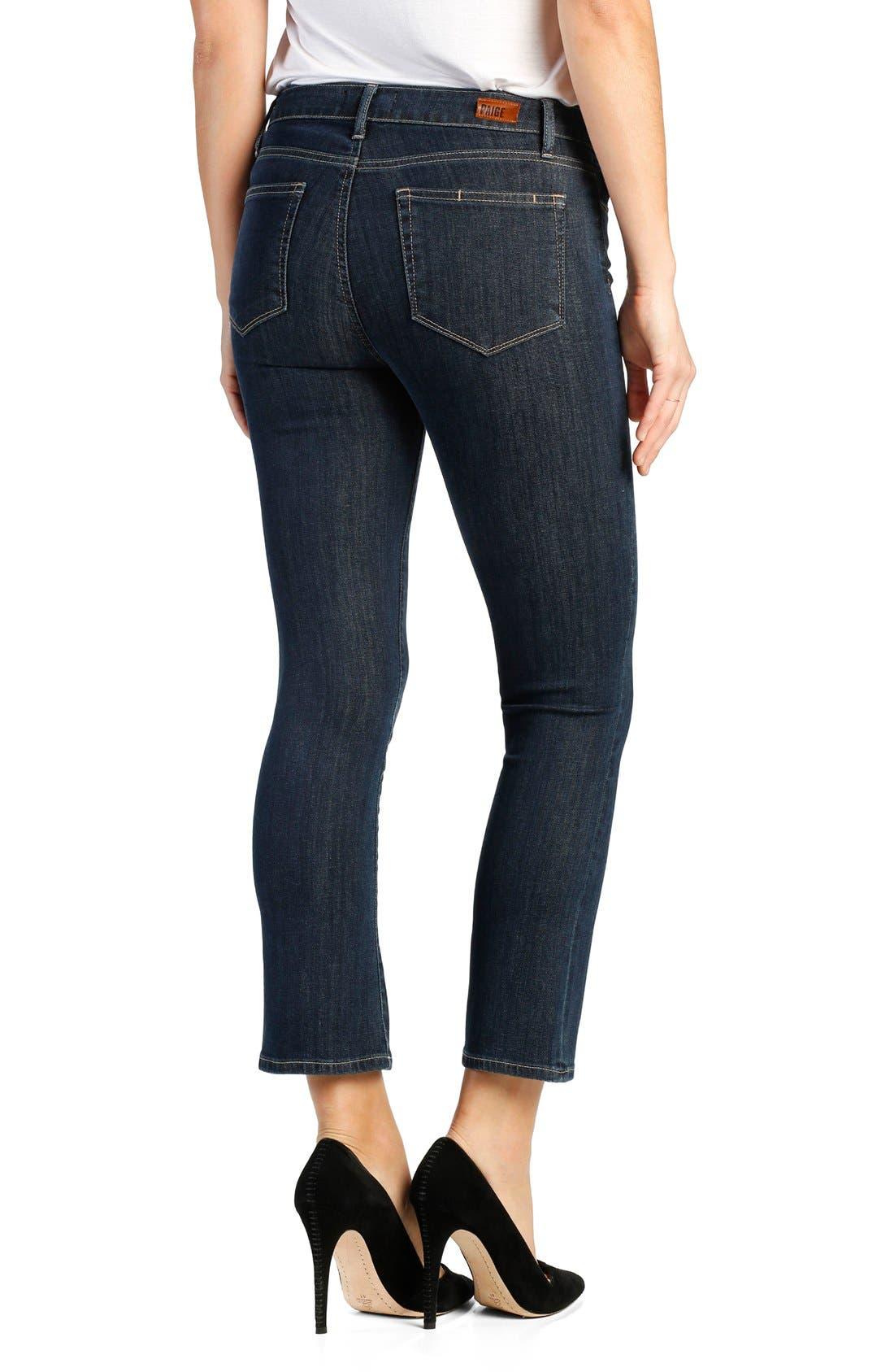 Legacy - Colette High Rise Lace-Up Crop Jeans,                             Alternate thumbnail 3, color,                             400
