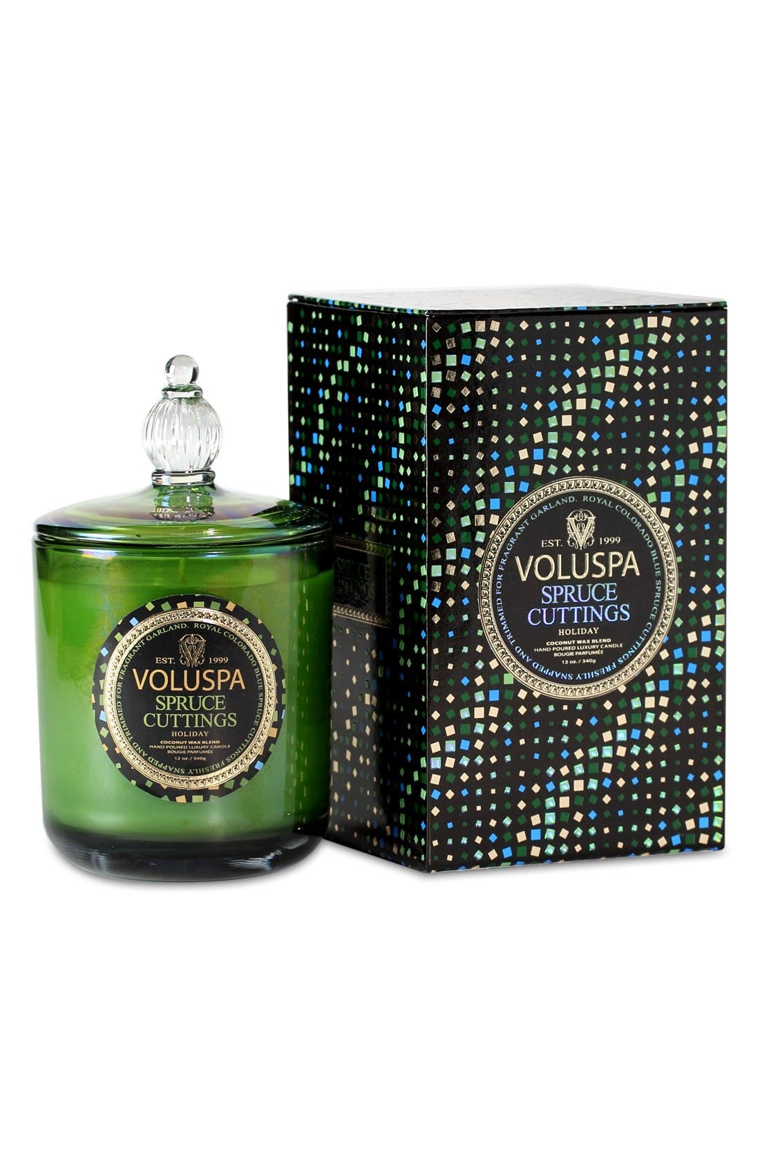 VOLUSPA,                             'Maison Holiday - Spruce Cuttings' Decorative Candle,                             Alternate thumbnail 2, color,                             000