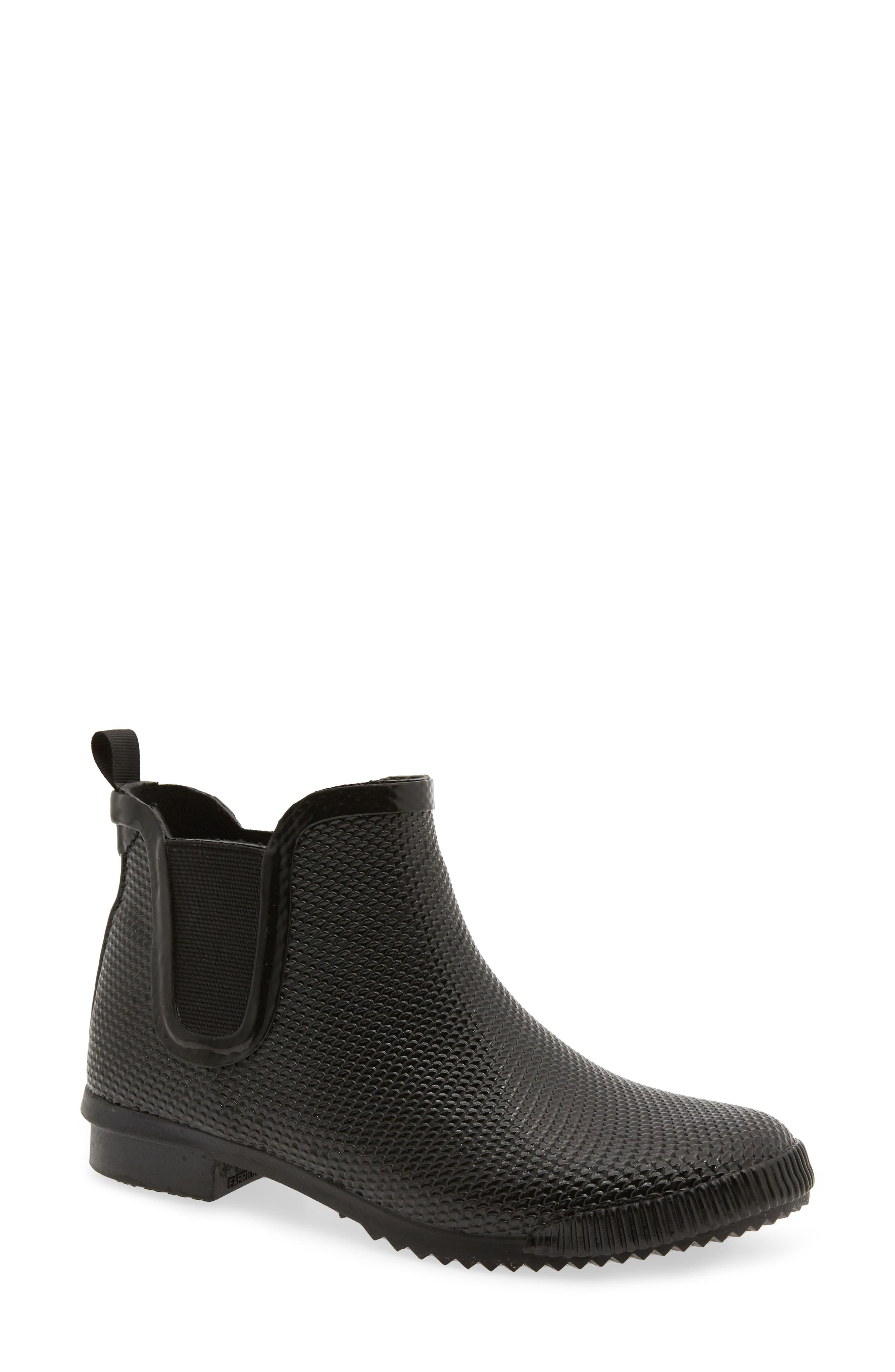 Regent Chelsea Rain Boot,                         Main,                         color, BLACK SNAKE PRINT