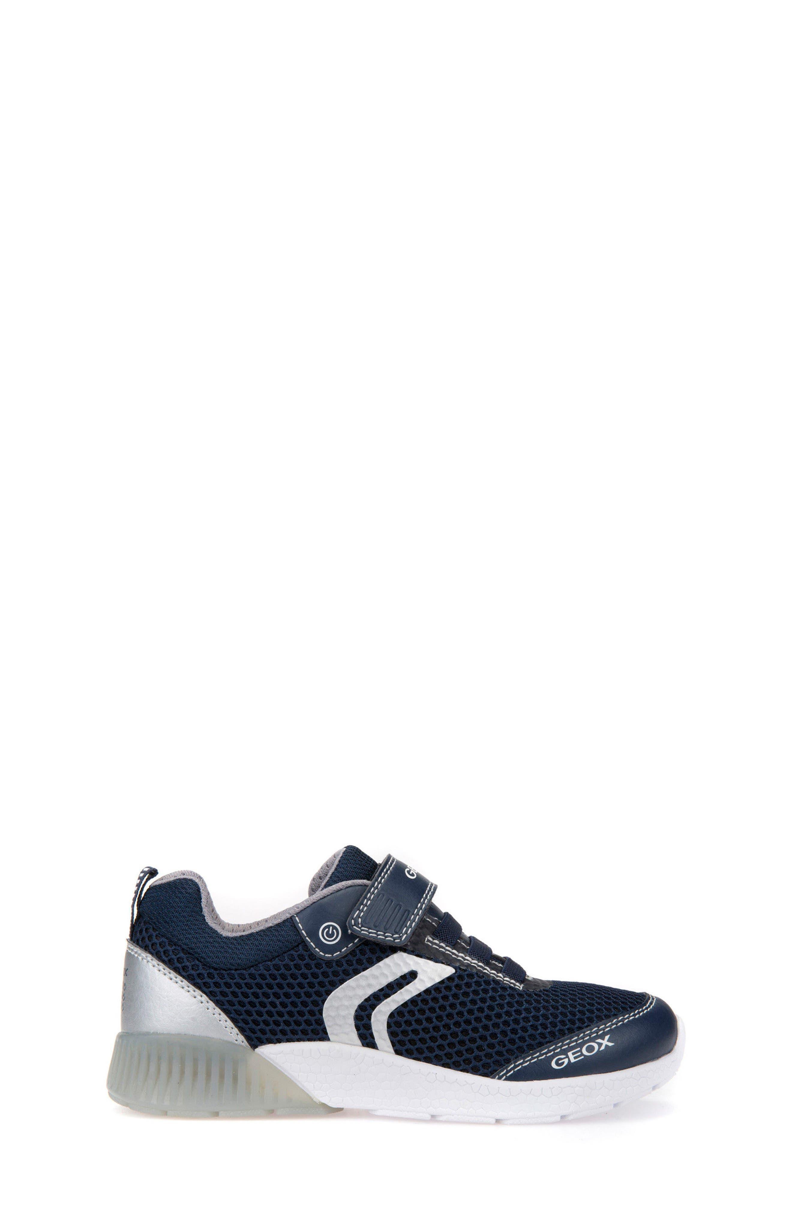 Sveth Light-Up Sneaker,                             Alternate thumbnail 3, color,                             NAVY/ SILVER