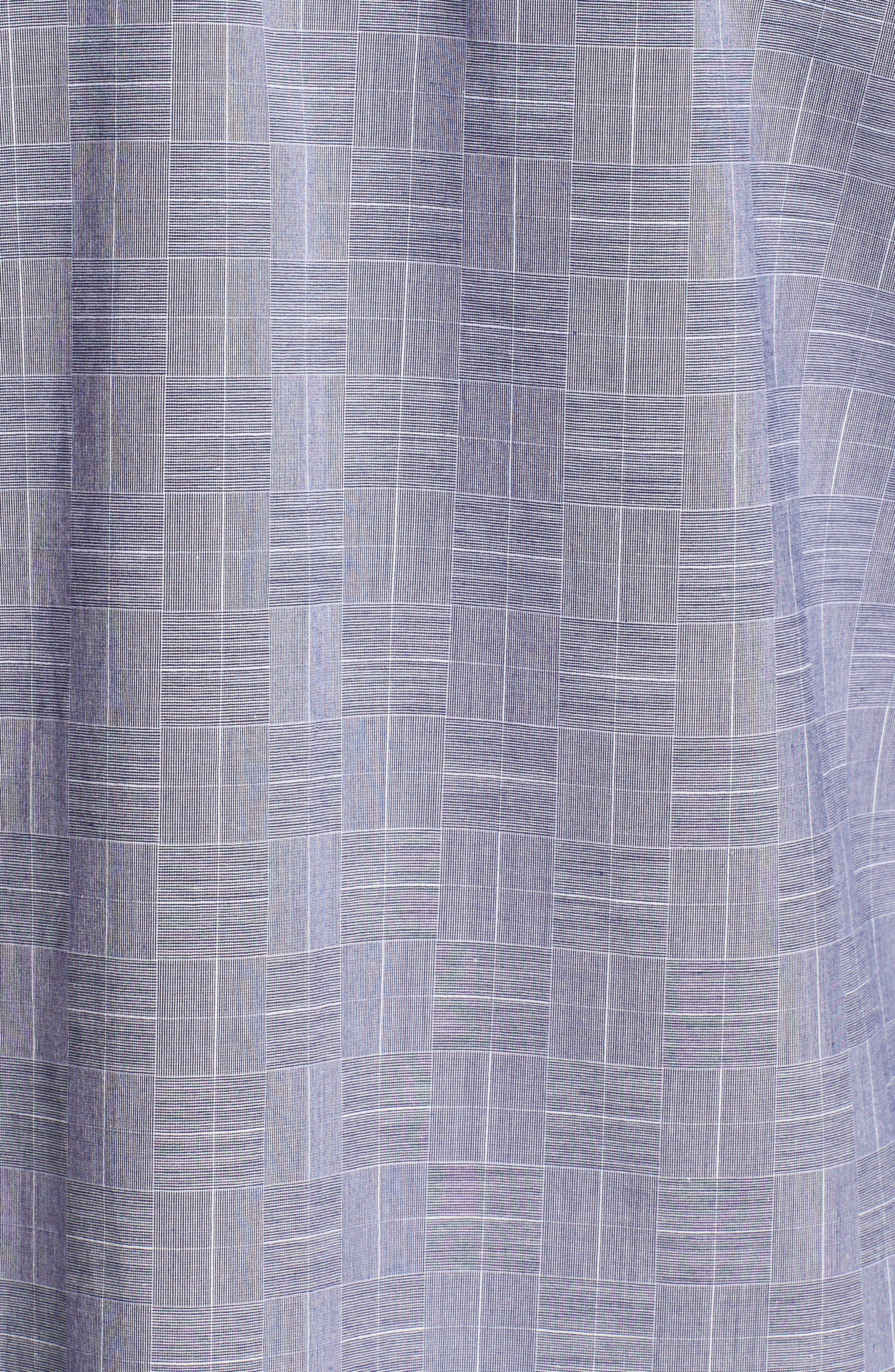 Murrary Indy Regular Fit Solid Cotton & Linen Sport Shirt,                             Alternate thumbnail 5, color,                             FINCH
