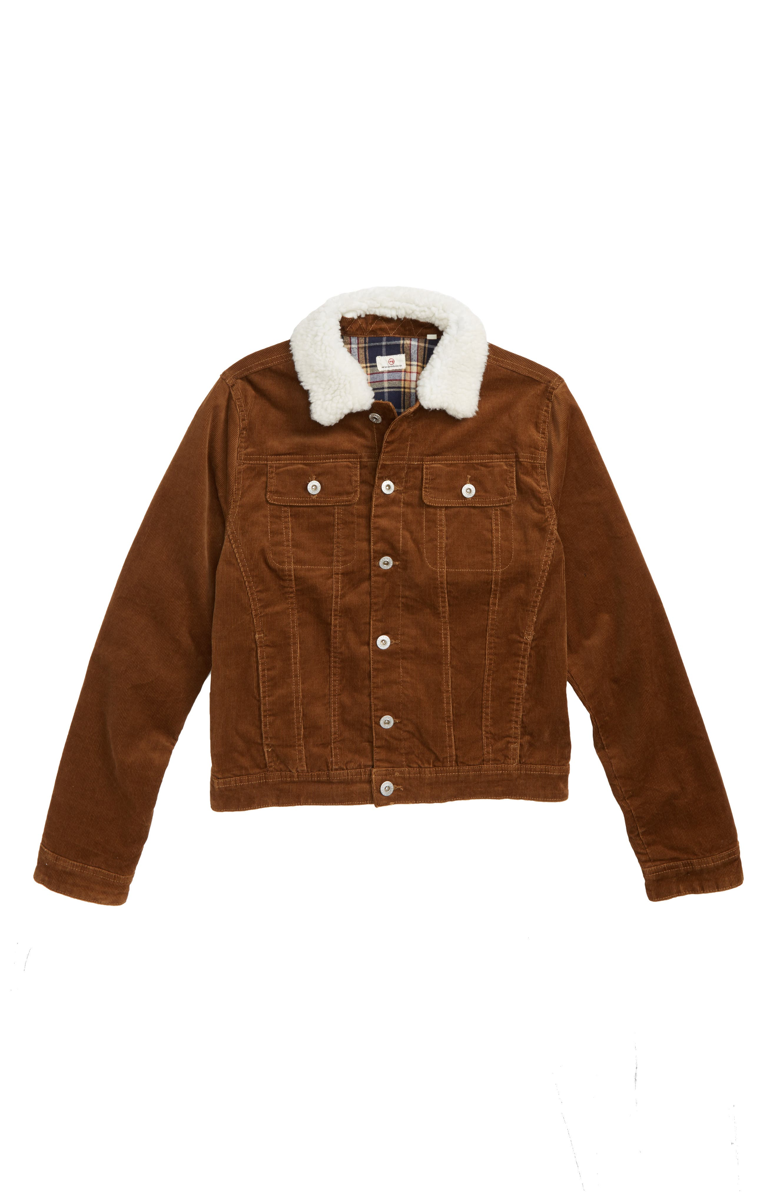 Beau Corduroy Jacket with Faux Fur Collar,                             Main thumbnail 1, color,                             200