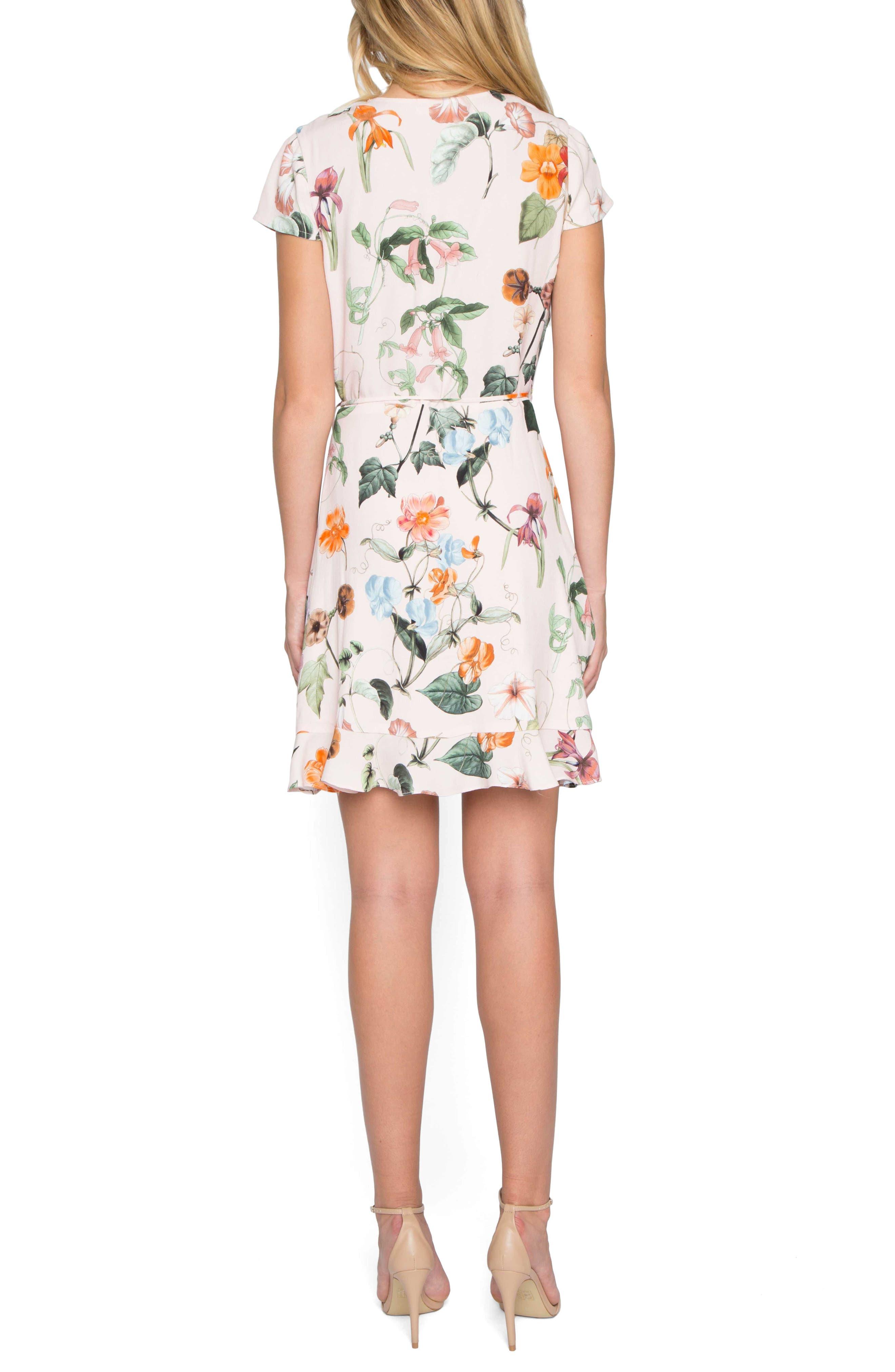 Floral Wrap Dress,                             Alternate thumbnail 3, color,