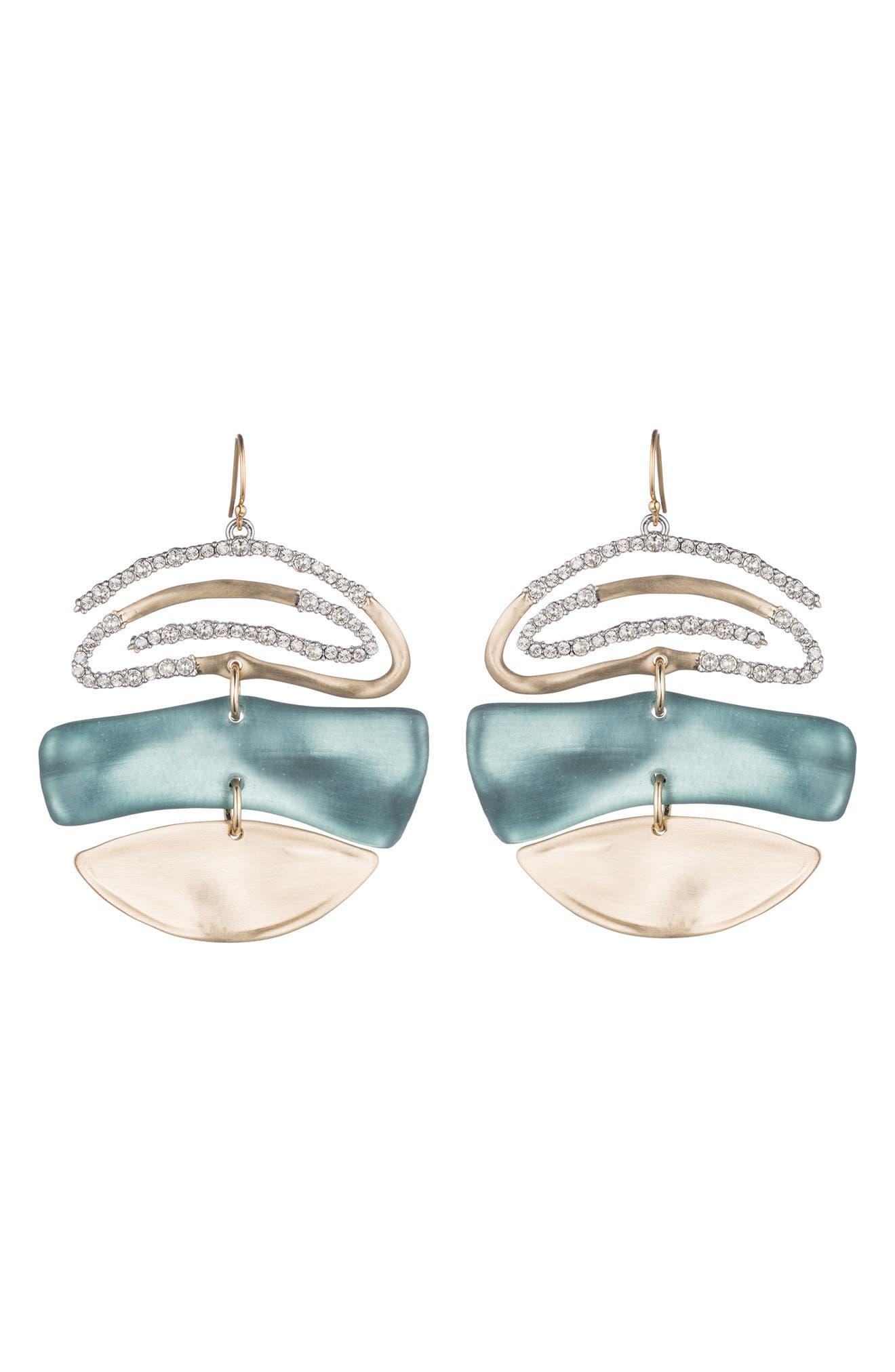Crystal Encrusted Spiral Mobile Earrings,                         Main,                         color, 440