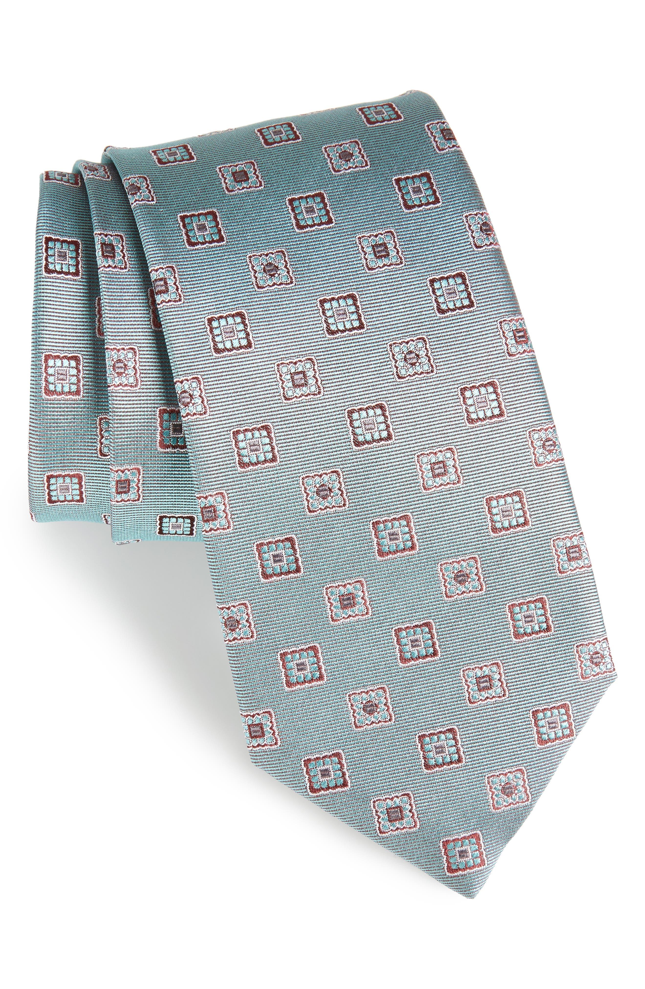 Geometric Silk Tie,                         Main,                         color, 428