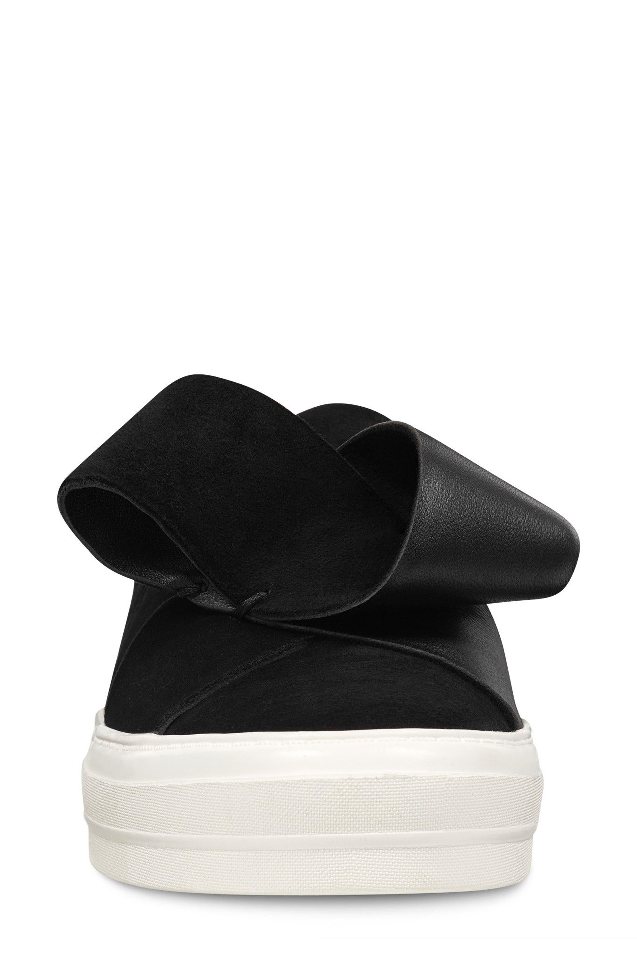 Odienella Slip-On Sneaker,                             Alternate thumbnail 4, color,                             BLACK MULTI SUEDE