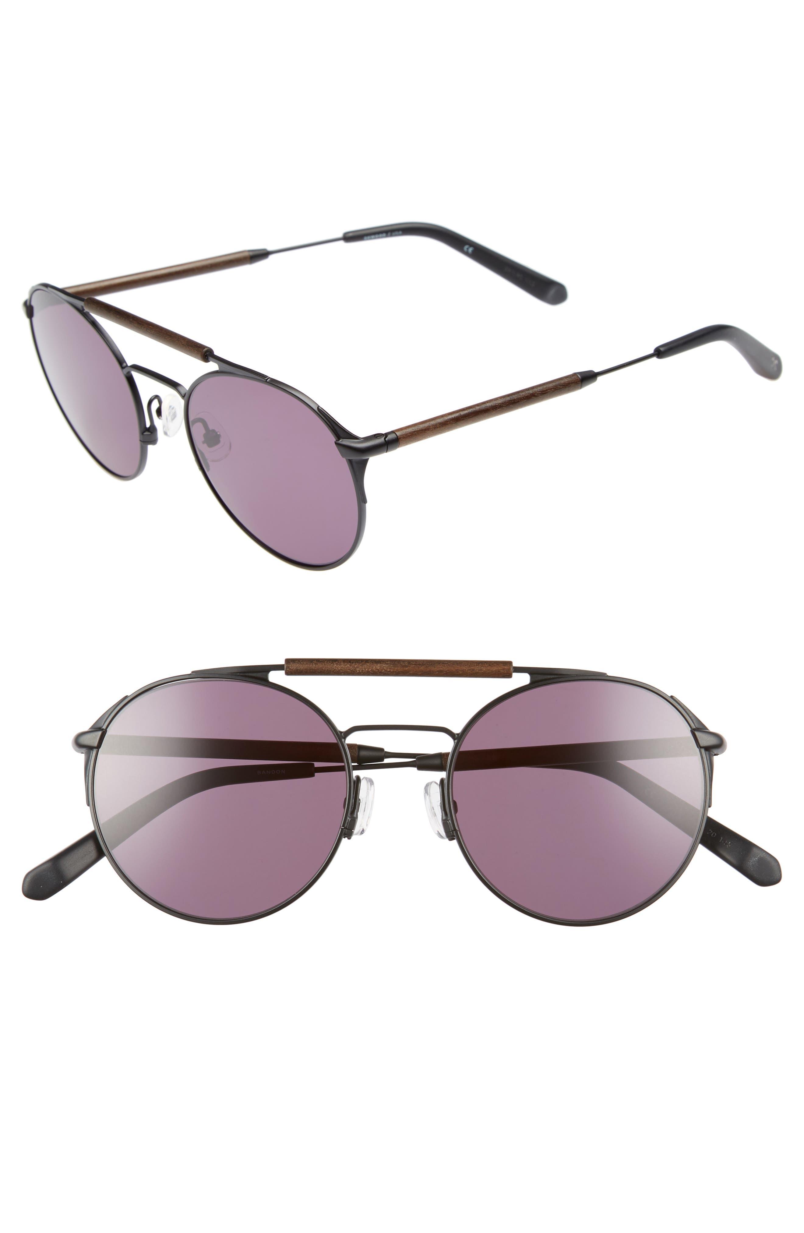 Bandon 52mm Round Sunglasses,                             Main thumbnail 2, color,