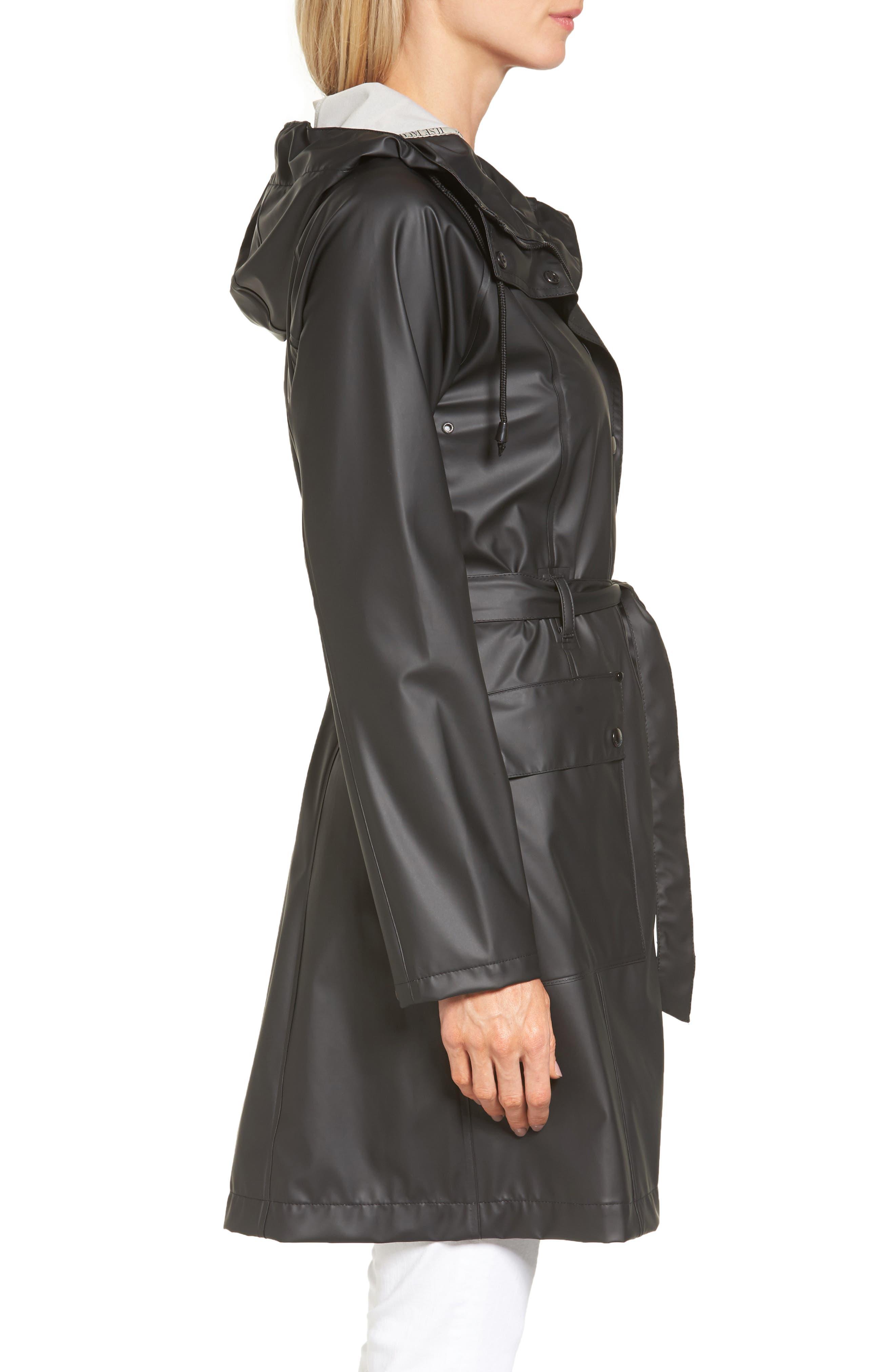 Hornbæk Hooded Raincoat,                             Alternate thumbnail 3, color,                             001