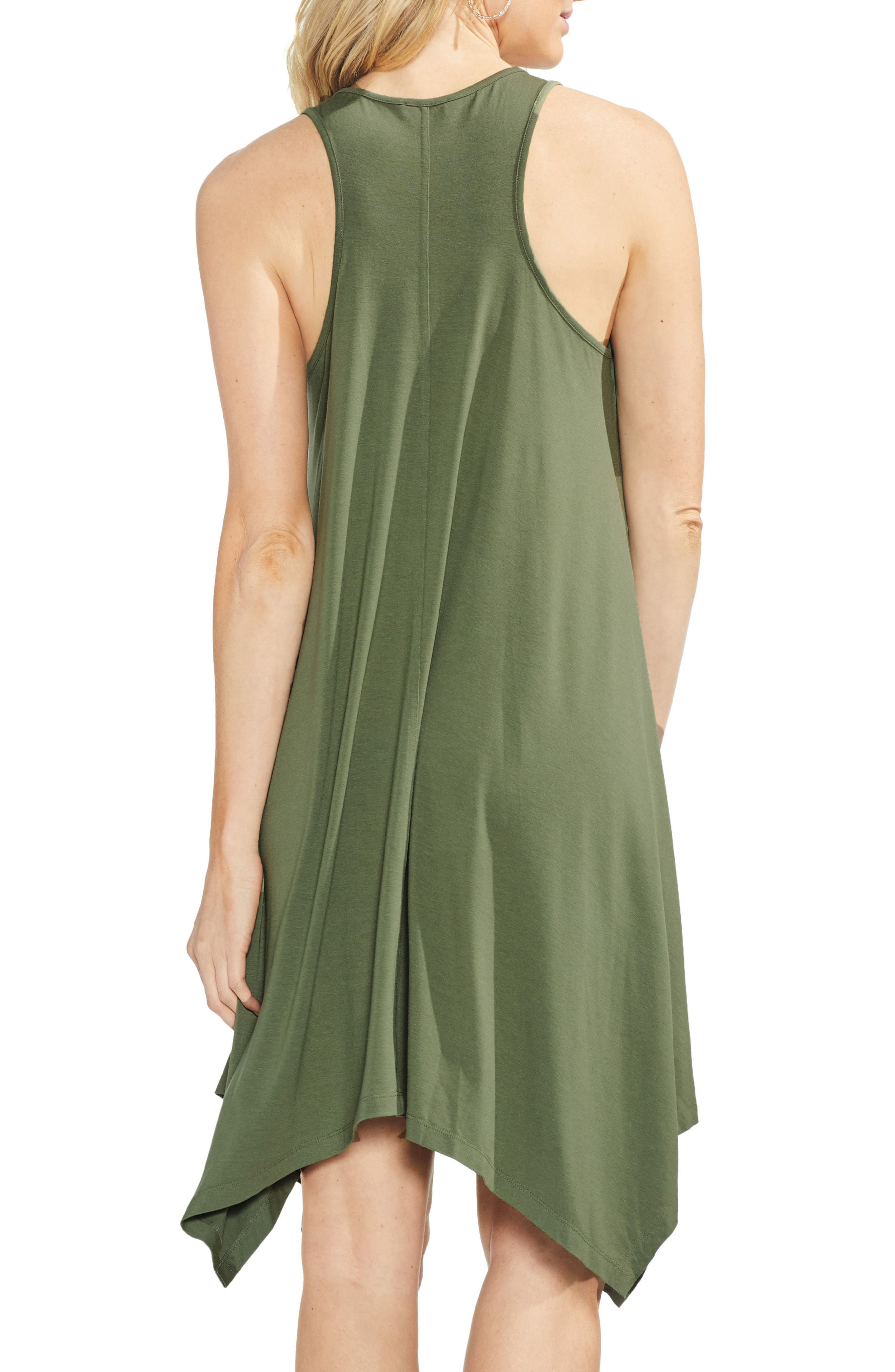 VINCE CAMUTO,                             Handkerchief Hem Tank Dress,                             Alternate thumbnail 2, color,                             300