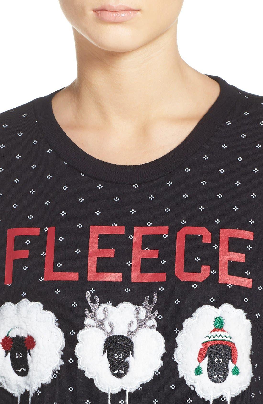 Holiday Sweatshirt,                             Alternate thumbnail 3, color,                             001