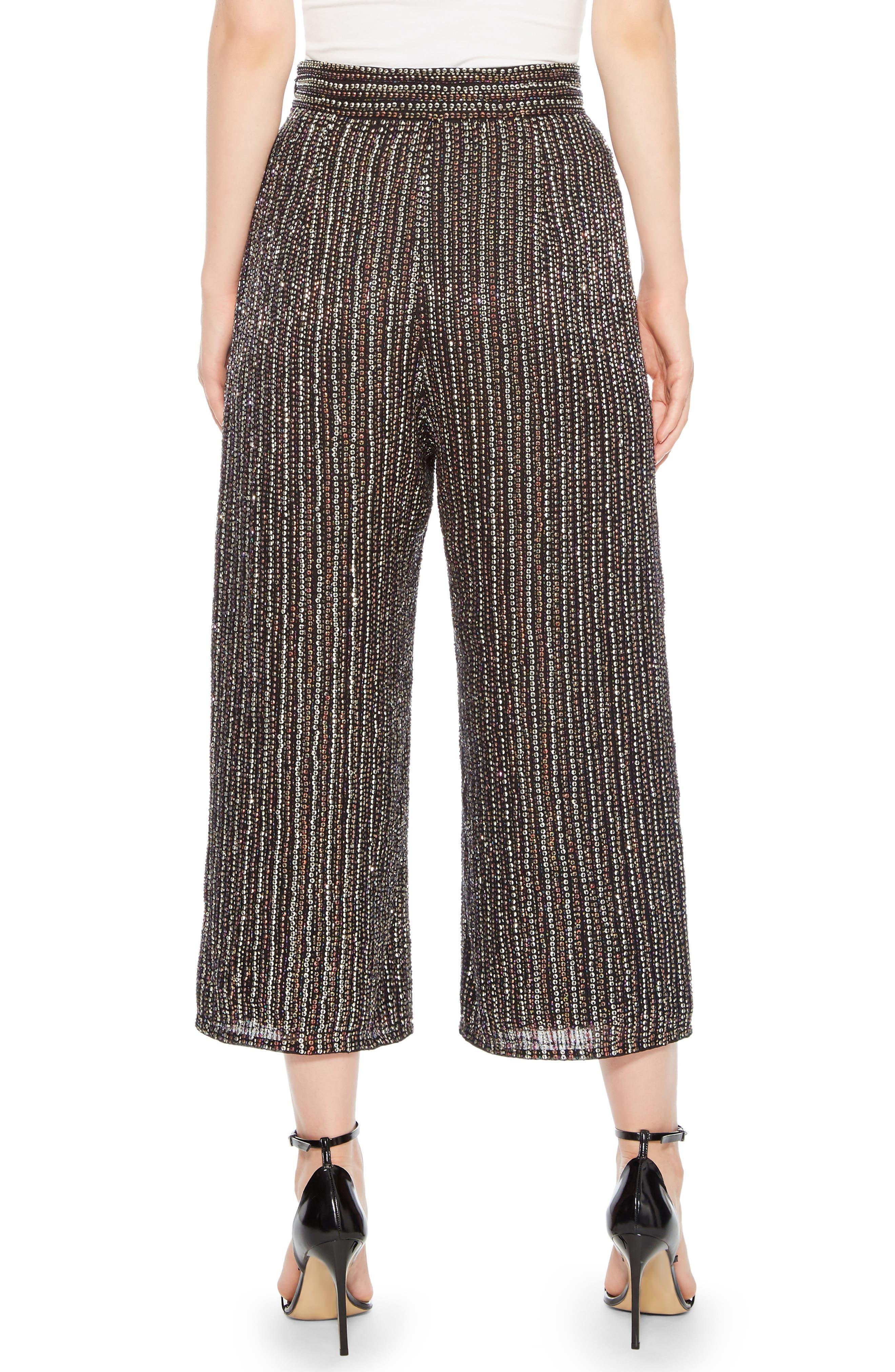 Ellen Wide Leg Crop Pants,                             Alternate thumbnail 2, color,                             BLACK MULTI