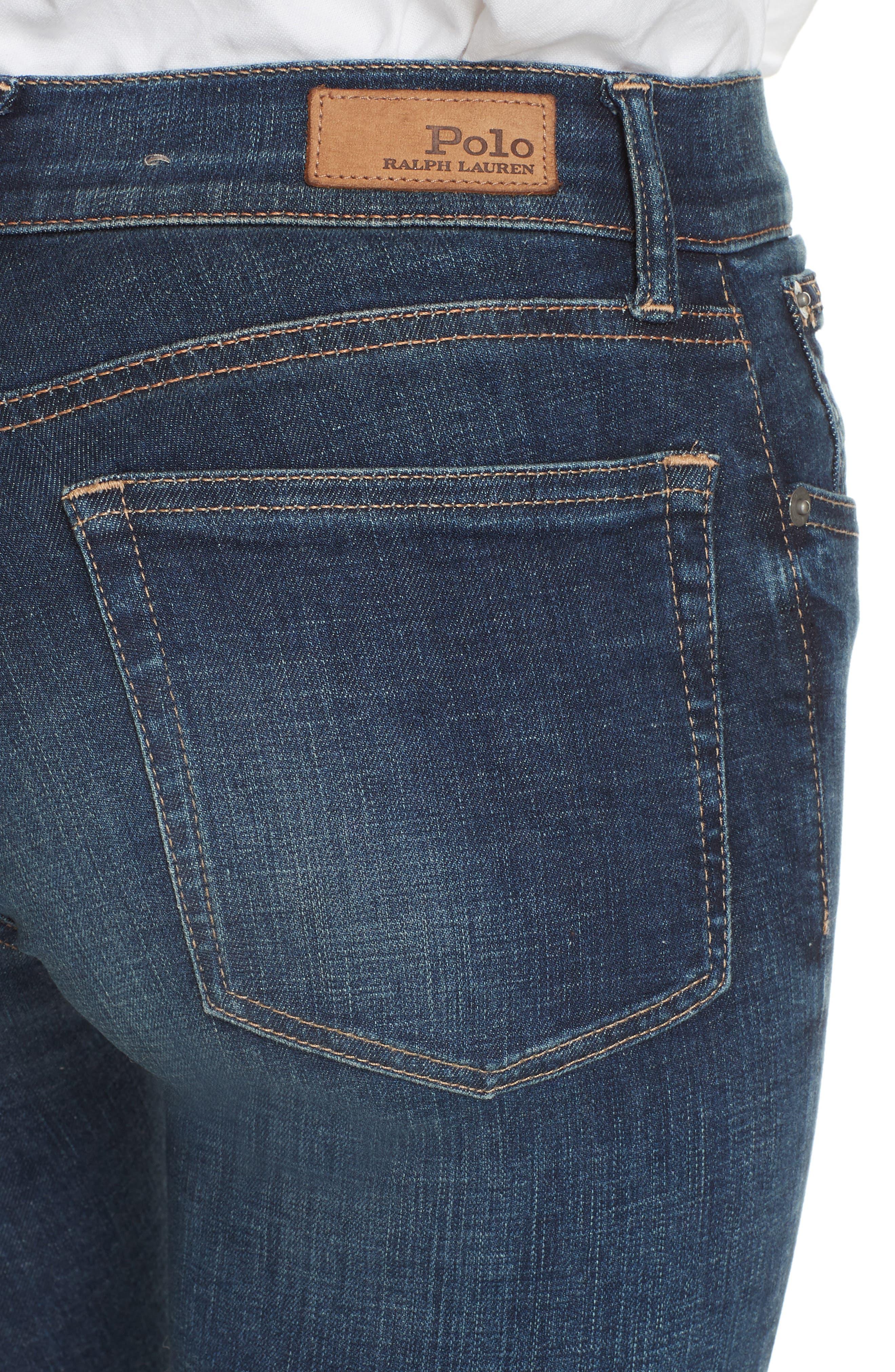 Super Skinny Jeans,                             Alternate thumbnail 4, color,                             DARK INDIGO