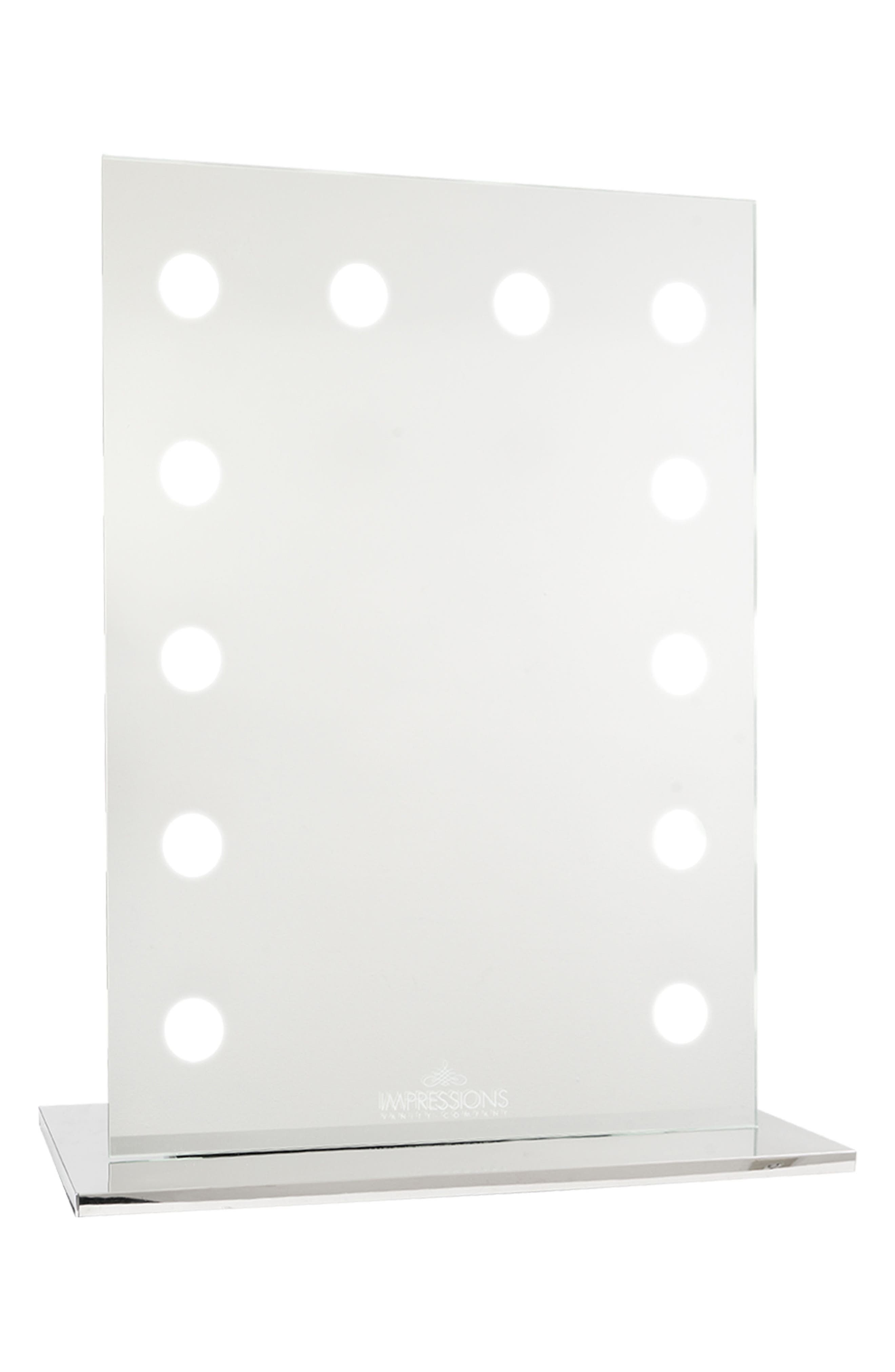 Mirage II LED Vanity Mirror,                             Main thumbnail 1, color,                             CLEAR