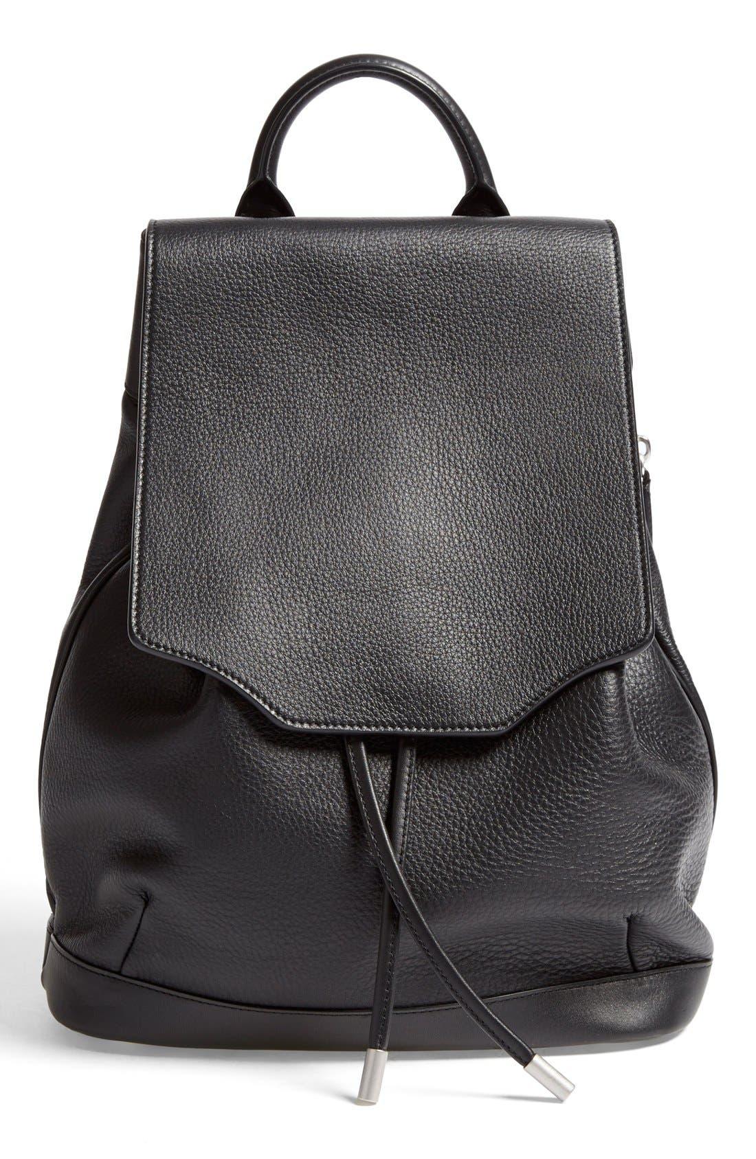 RAG & BONE,                             'Pilot' Leather Backpack,                             Main thumbnail 1, color,                             001