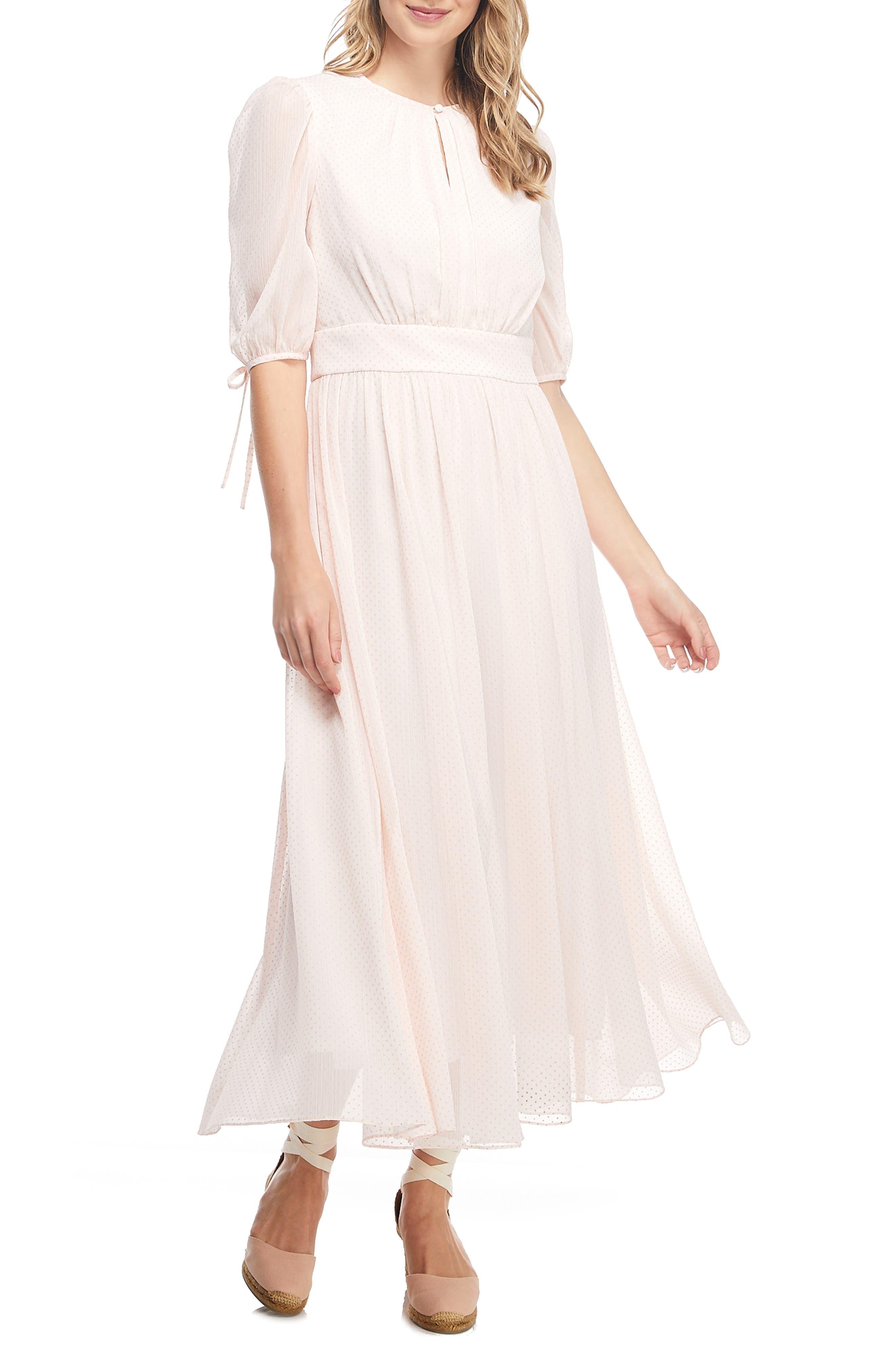 70s Dresses – Disco Dresses, Hippie Dresses, Wrap Dresses Womens Gal Meets Glam Collection Louise Mini Dot Flared Dress $112.80 AT vintagedancer.com