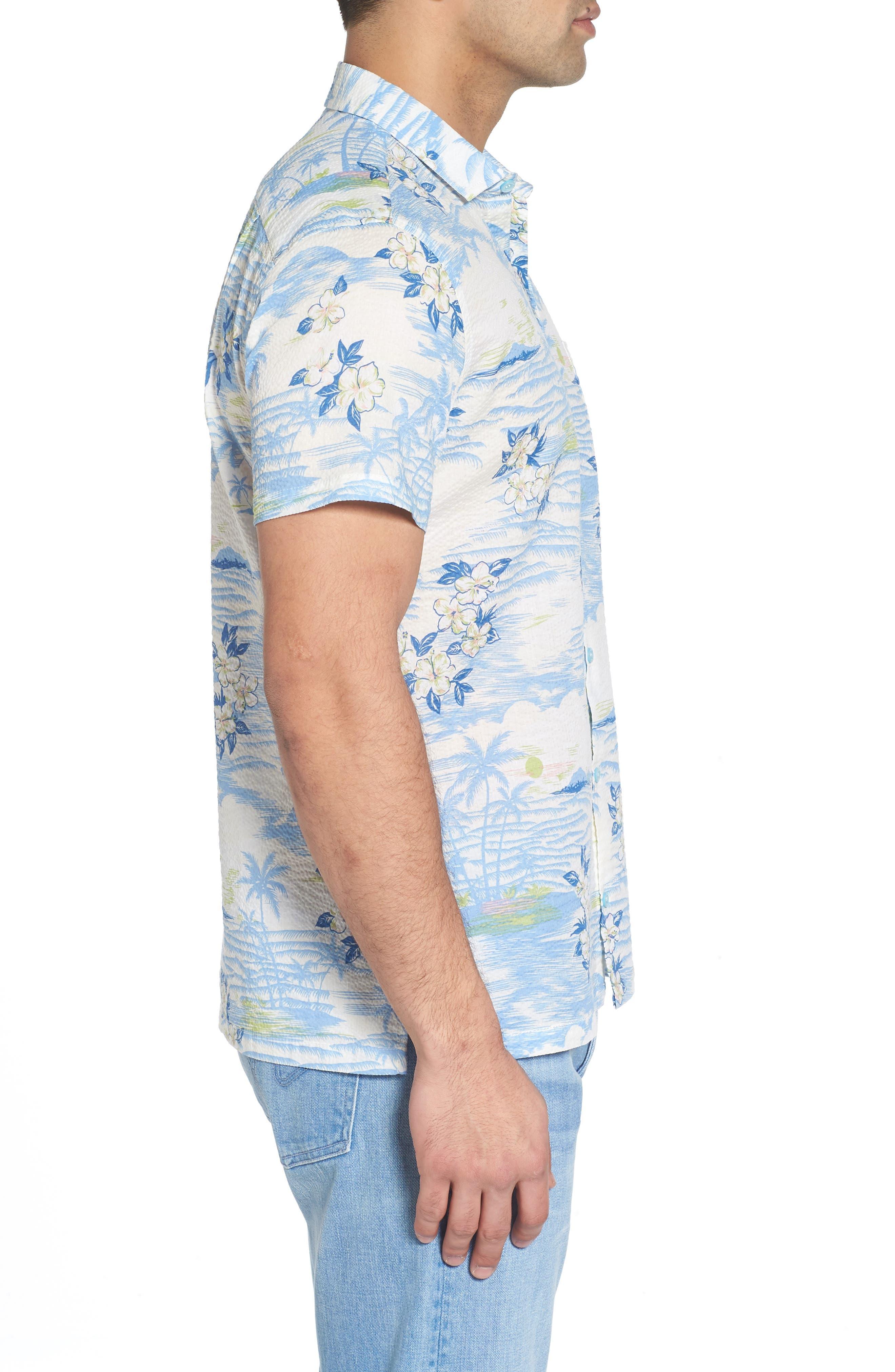 Tropic Dream Lawn Sport Shirt,                             Alternate thumbnail 3, color,                             409