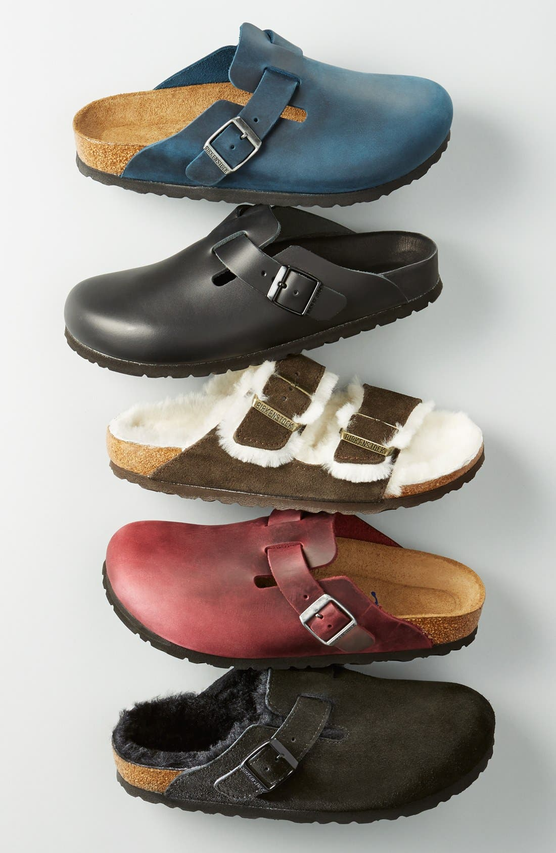 'Boston' Genuine Shearling Lined Clog,                             Alternate thumbnail 8, color,                             FOREST/ NATURAL SUEDE