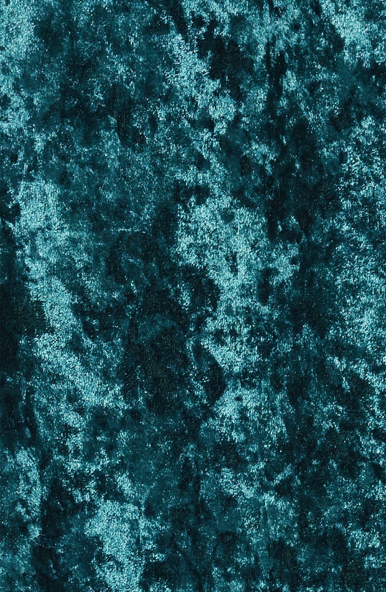 Shay Crushed Velvet Dress,                             Alternate thumbnail 3, color,                             TEAL