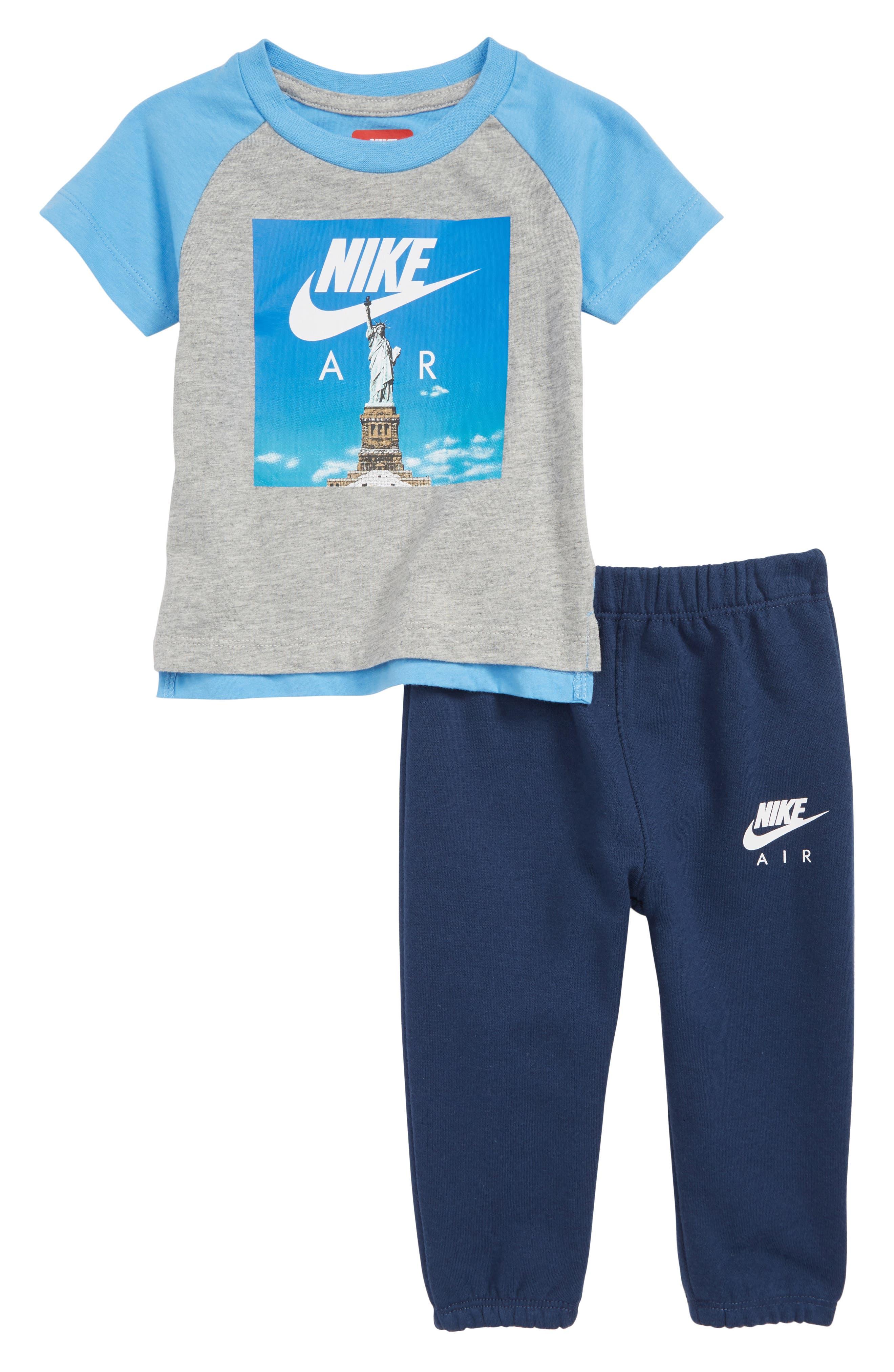 Air Statue Liberty T-Shirt & Sweatpants Set,                             Main thumbnail 1, color,                             411