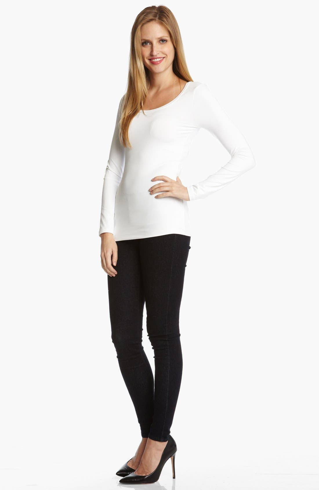 Supersoft Long Sleeve Tee,                             Alternate thumbnail 3, color,                             100