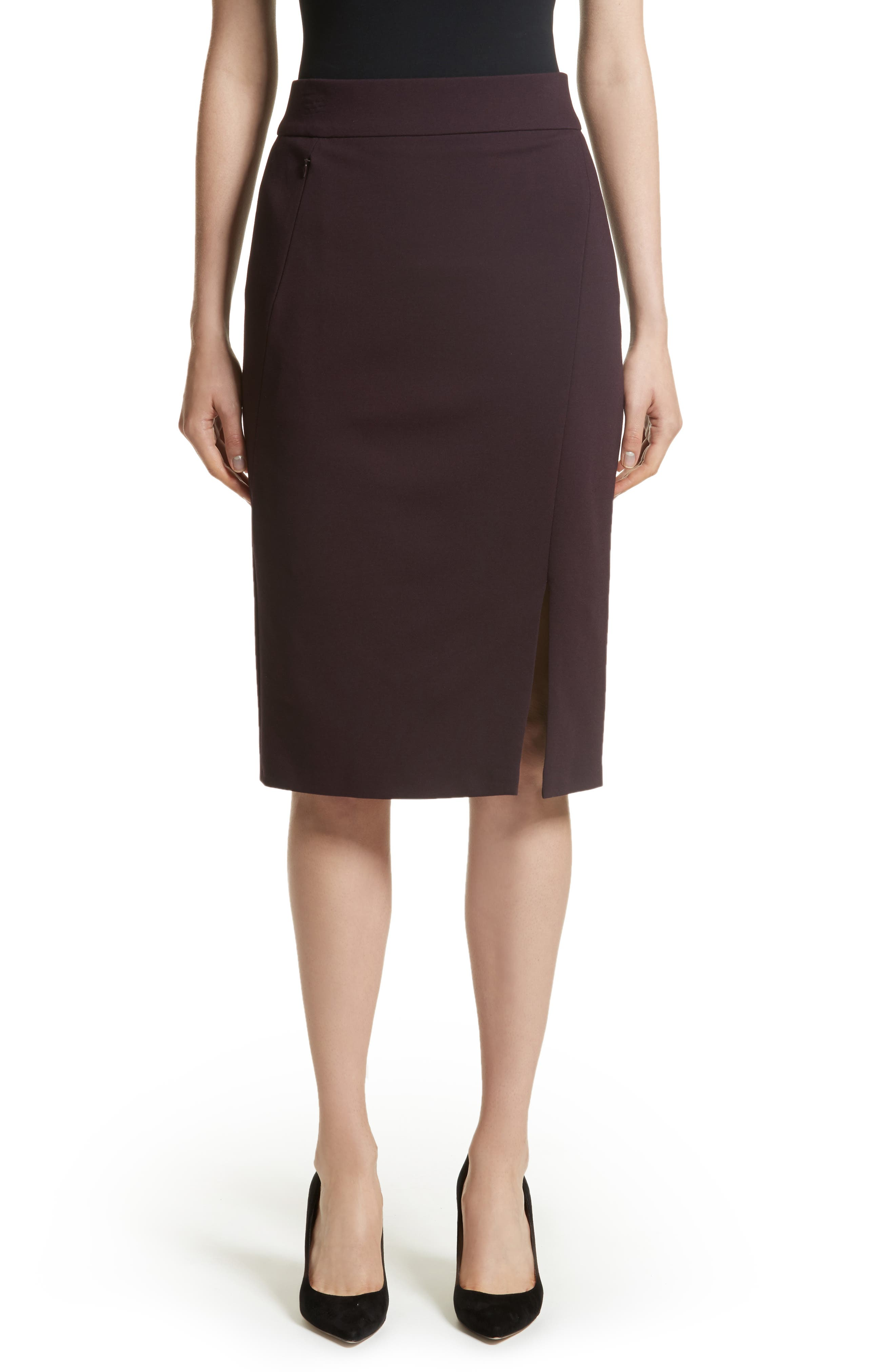 Gabardine Pencil Skirt,                         Main,                         color, 930