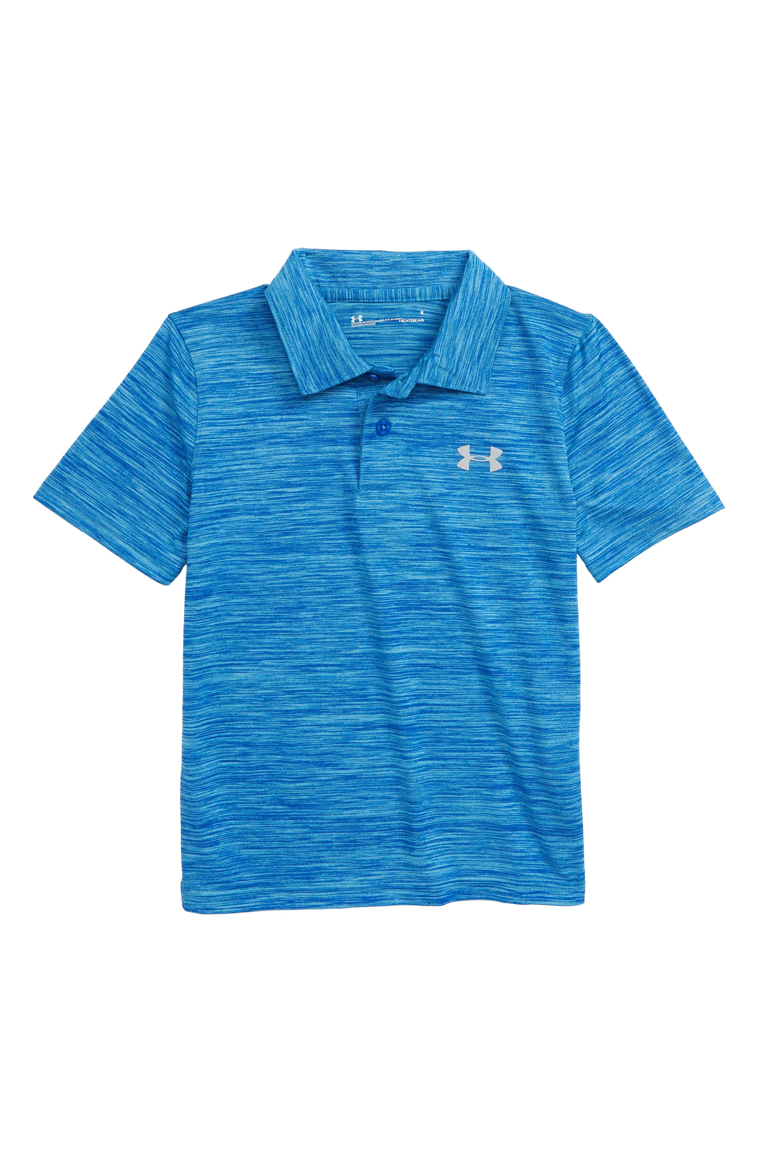 UNDER ARMOUR,                             Match Play Twist HeatGear<sup>®</sup> Polo,                             Main thumbnail 1, color,                             ULTRA BLUE