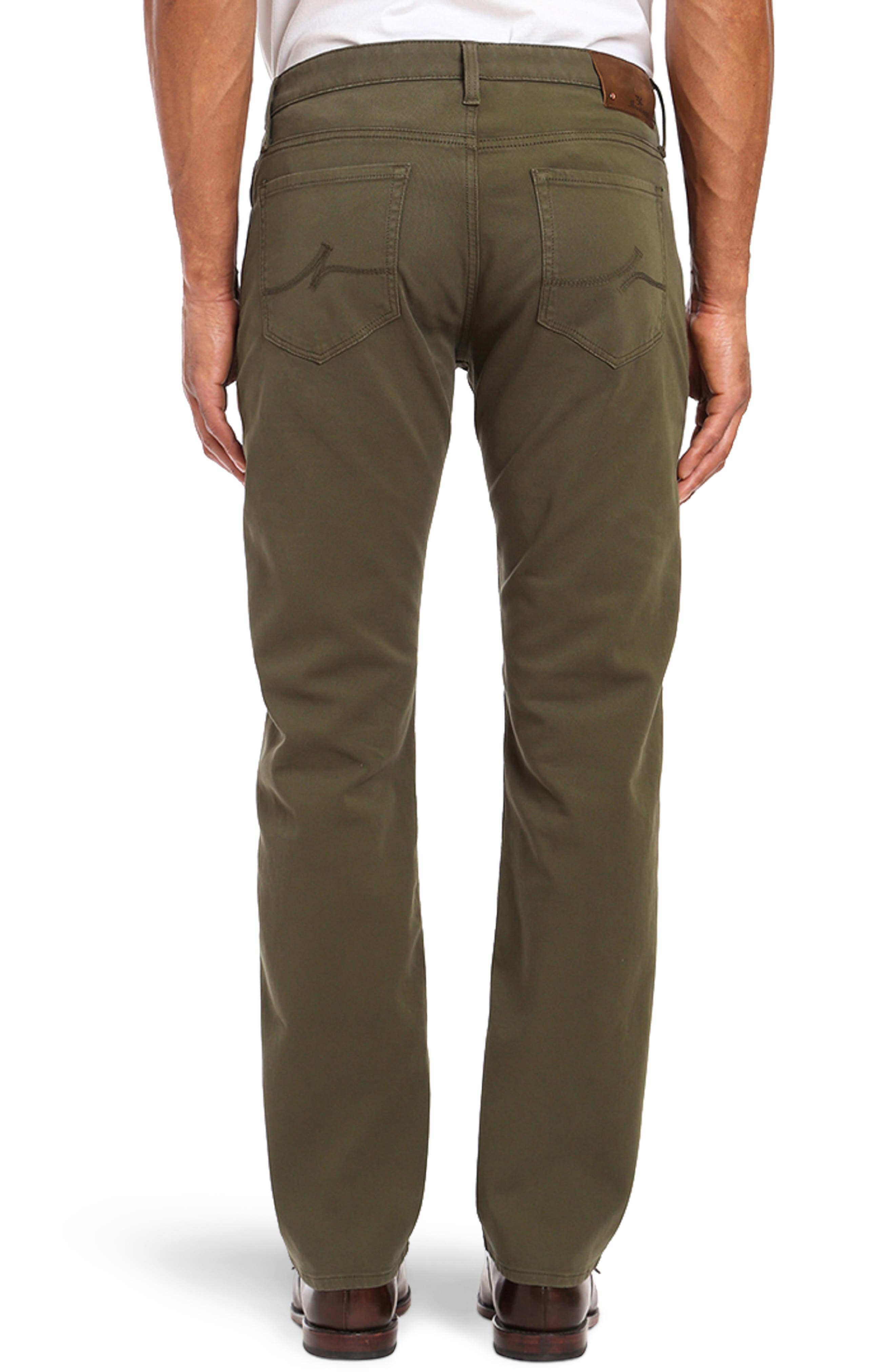Courage Straight Leg Twill Pants,                             Alternate thumbnail 2, color,                             GREEN FINE TWILL