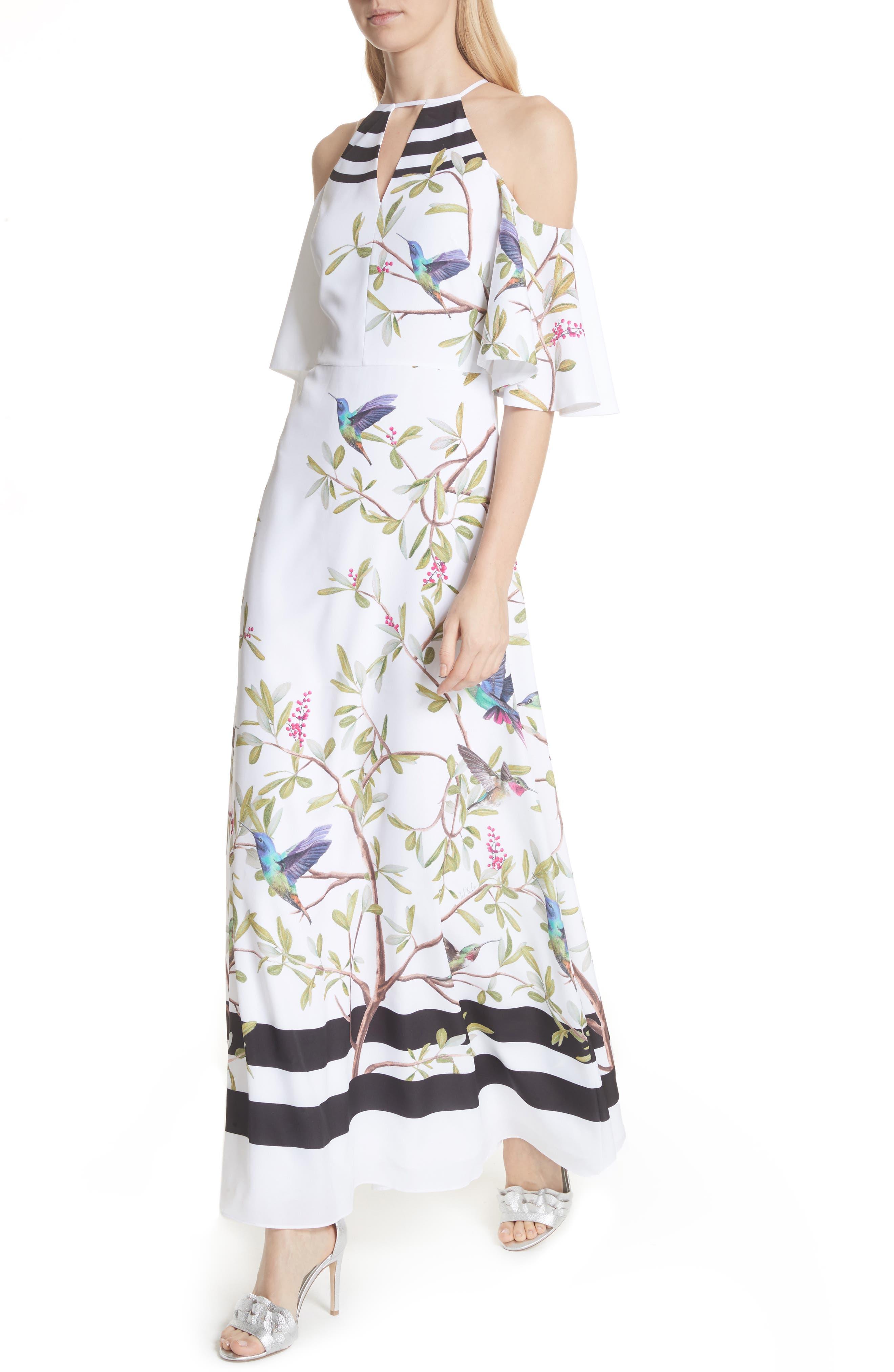 Highgrove Cold Shoulder Maxi Dress,                             Alternate thumbnail 4, color,                             110