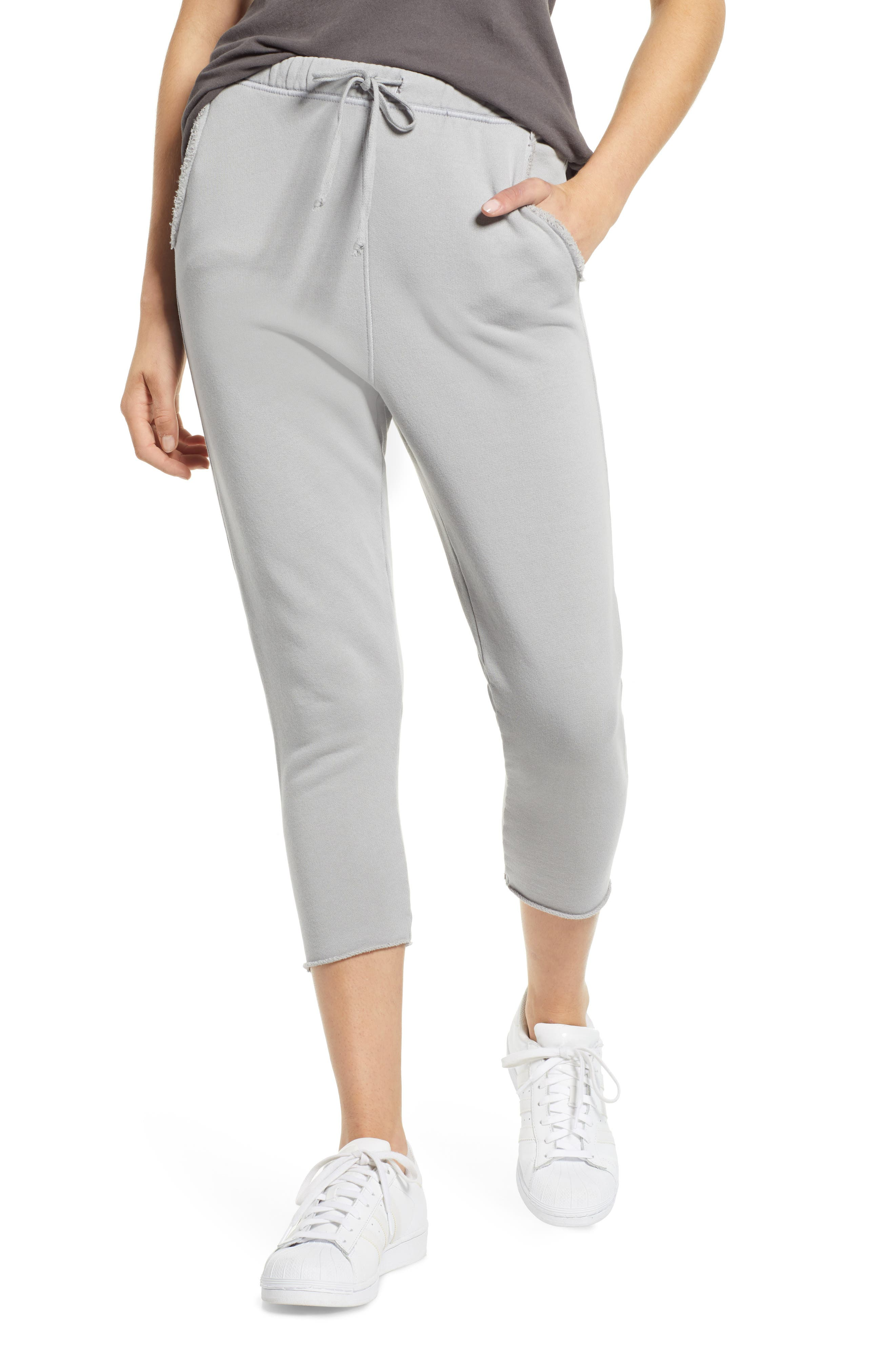 FRANK & EILEEN Tee Lab Crop Sweatpants in Dime